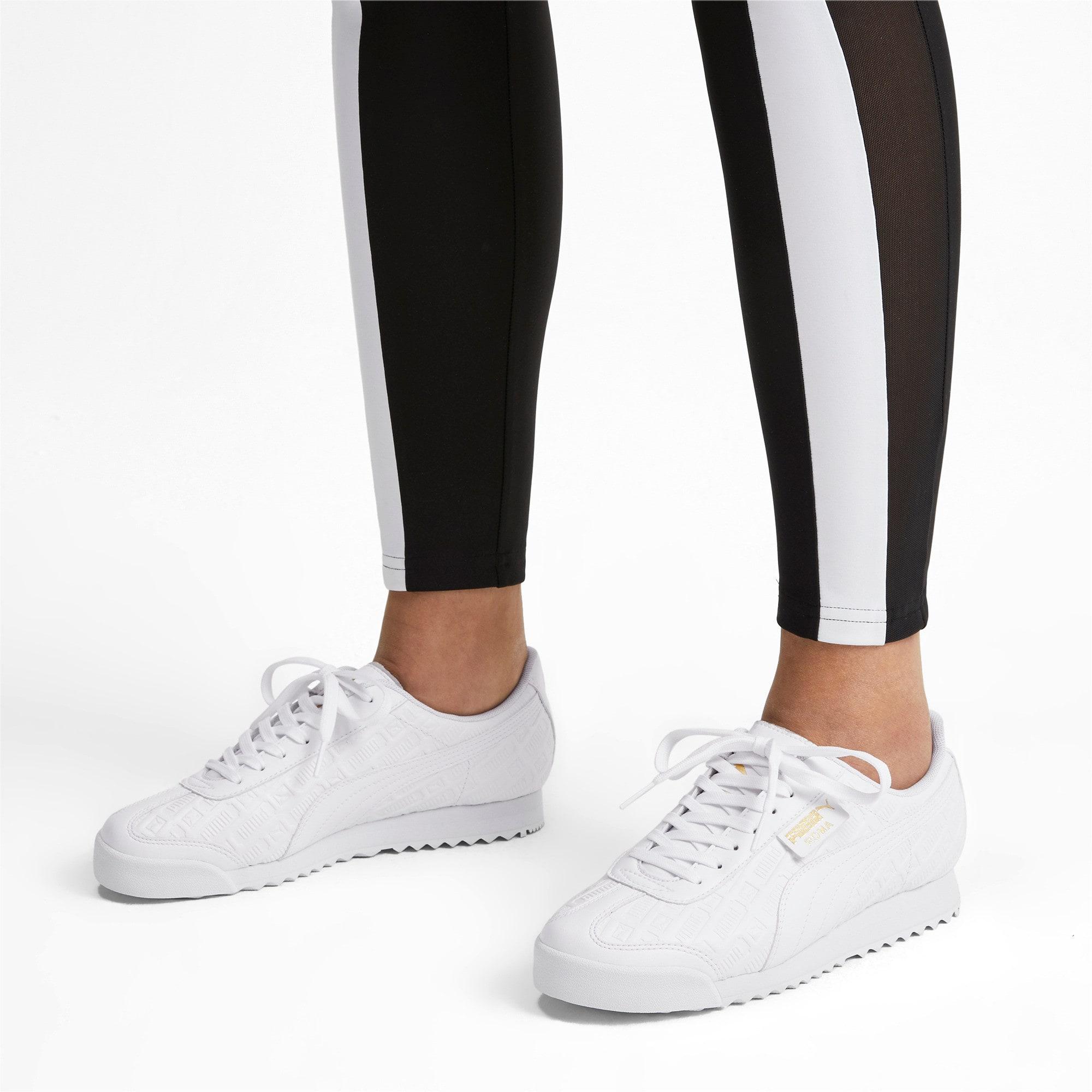 Thumbnail 2 of Roma Reinvent Women's Sneakers, Puma White-Puma Team Gold, medium