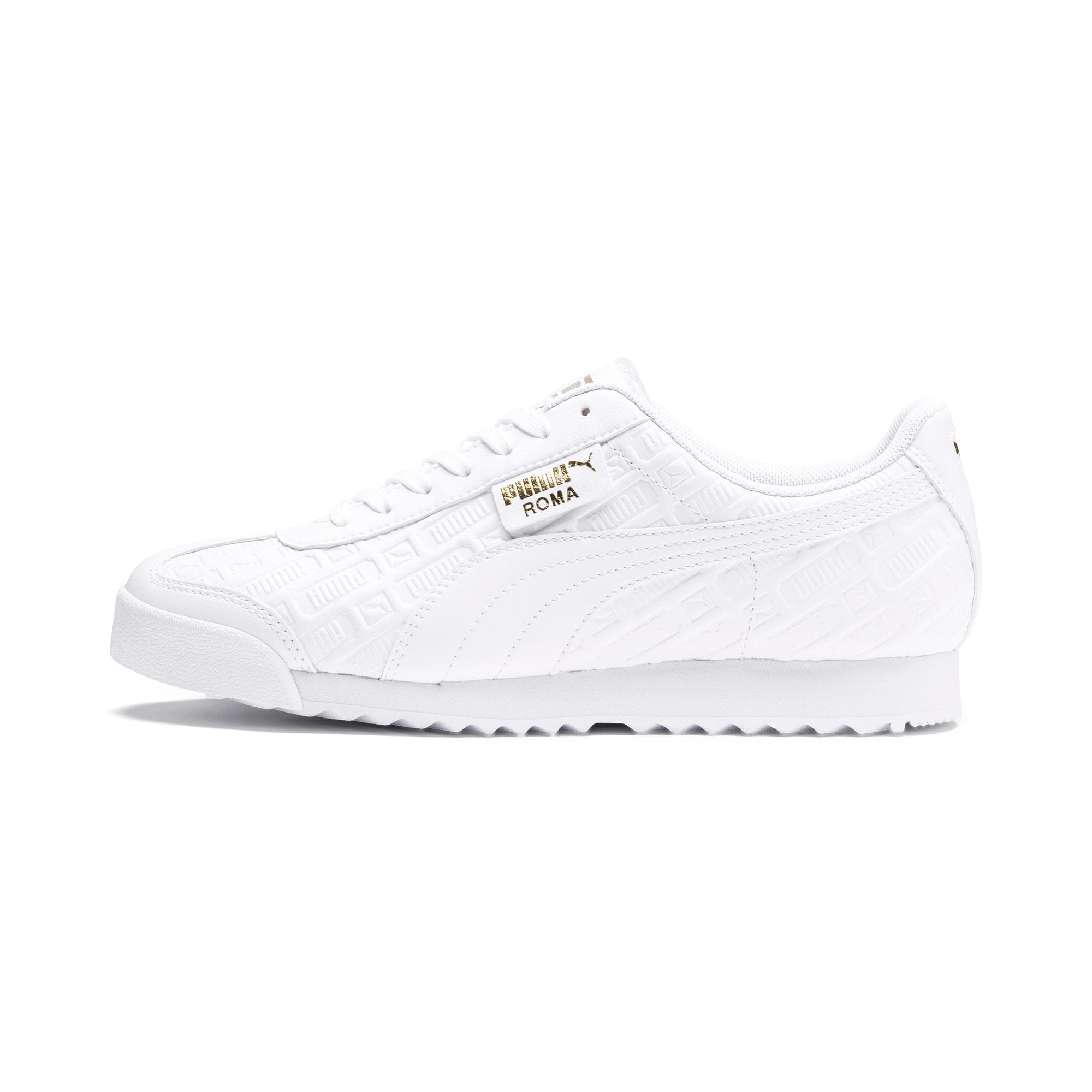 Thumbnail 1 of Roma Reinvent Women's Sneakers, Puma White-Puma Team Gold, medium