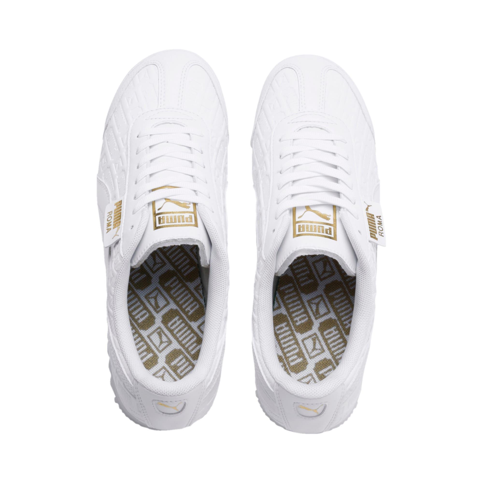 Thumbnail 7 of Roma Reinvent Women's Sneakers, Puma White-Puma Team Gold, medium