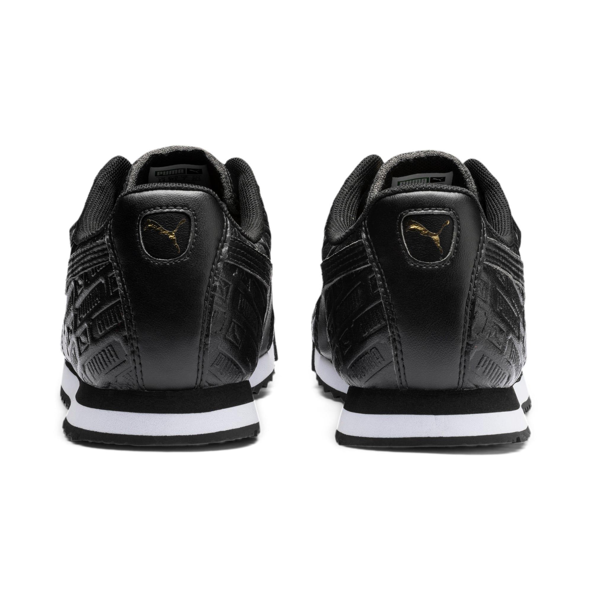 Thumbnail 4 of Roma Reinvent Women's Sneakers, Puma Black-Puma Team Gold, medium