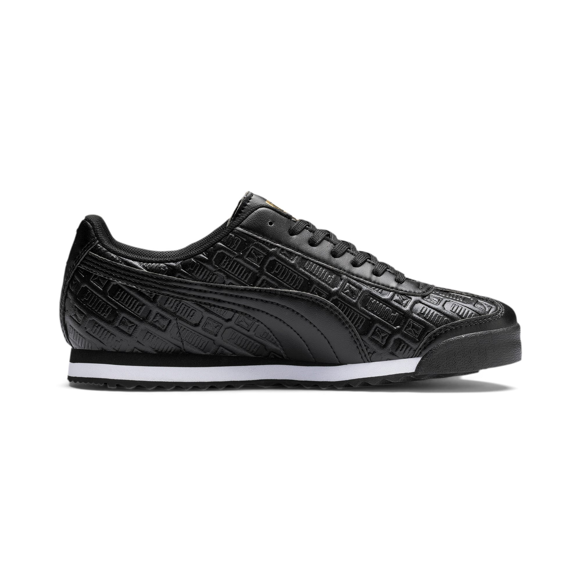 Thumbnail 6 of Roma Reinvent Women's Sneakers, Puma Black-Puma Team Gold, medium