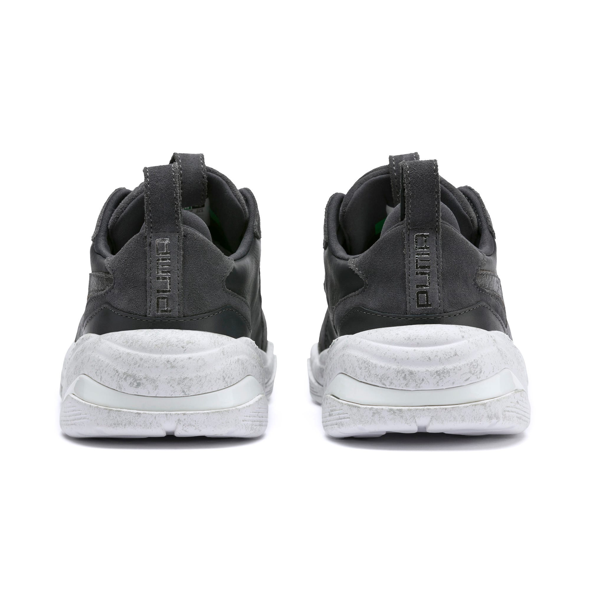 Thumbnail 4 of Thunder Distressed Women's Sneakers, Ebony-Puma Silver, medium