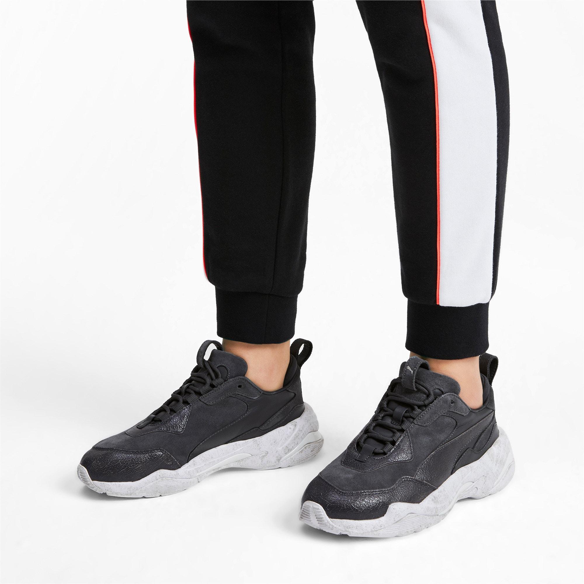 Miniatura 2 de Zapatos deportivos Thunder Distressed para mujer, Ebony-Puma Silver, mediano