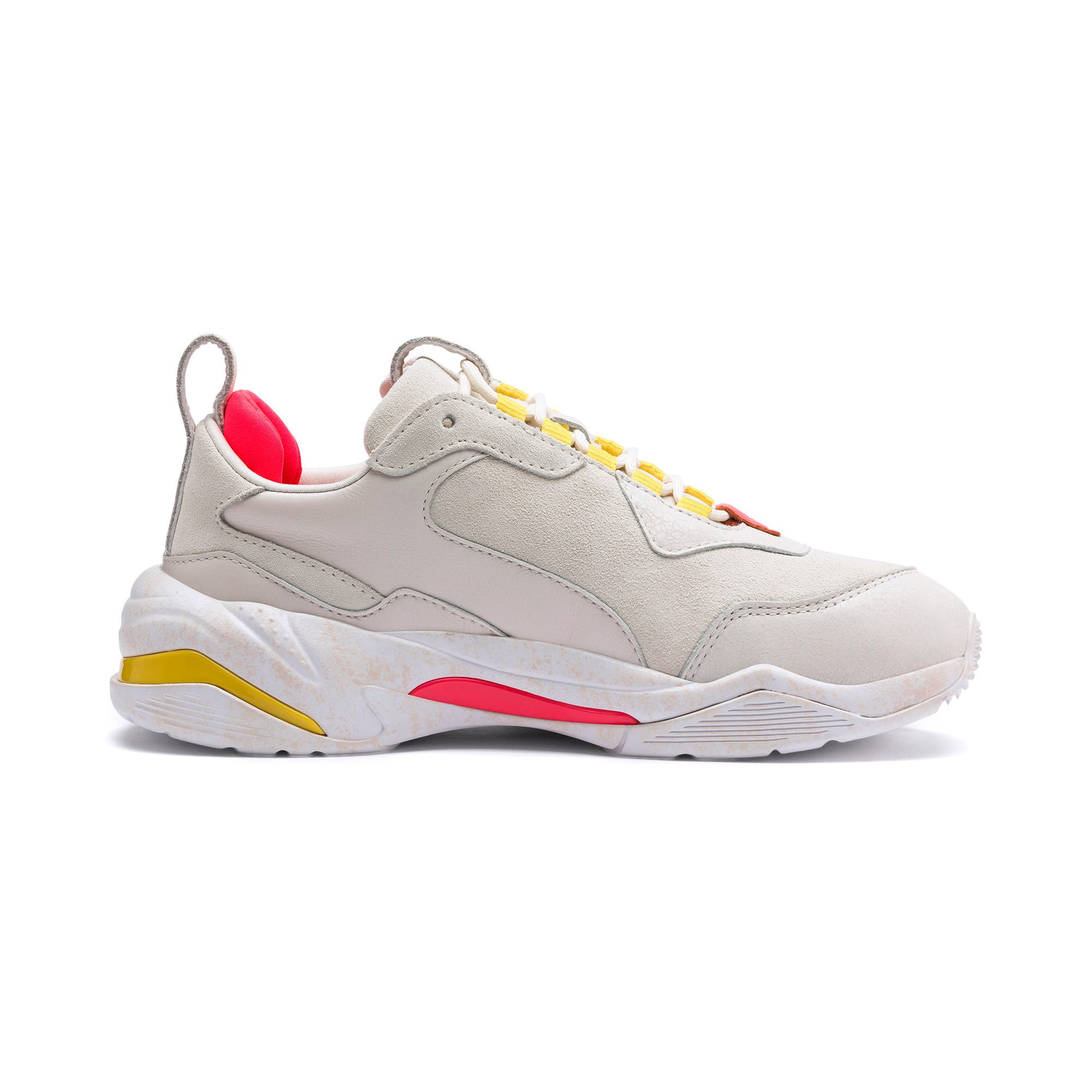 Thumbnail 6 of Thunder Distressed Women's Sneakers, Pastel Parchment-Puma Silver, medium