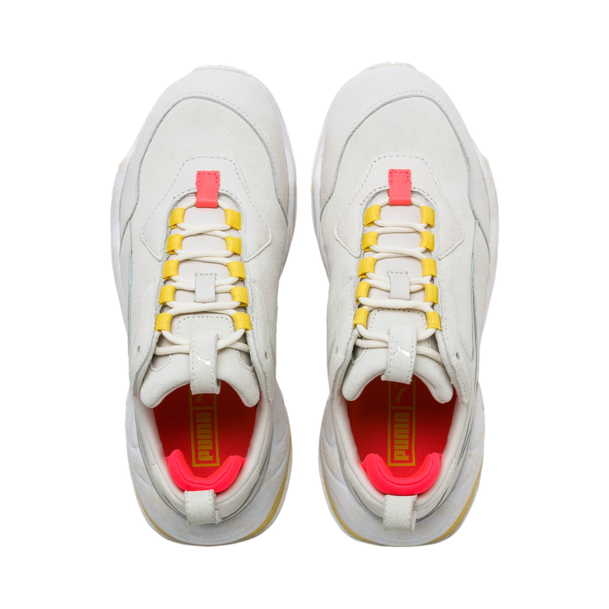 Thumbnail 7 of Thunder Distressed Women's Sneakers, Pastel Parchment-Puma Silver, medium