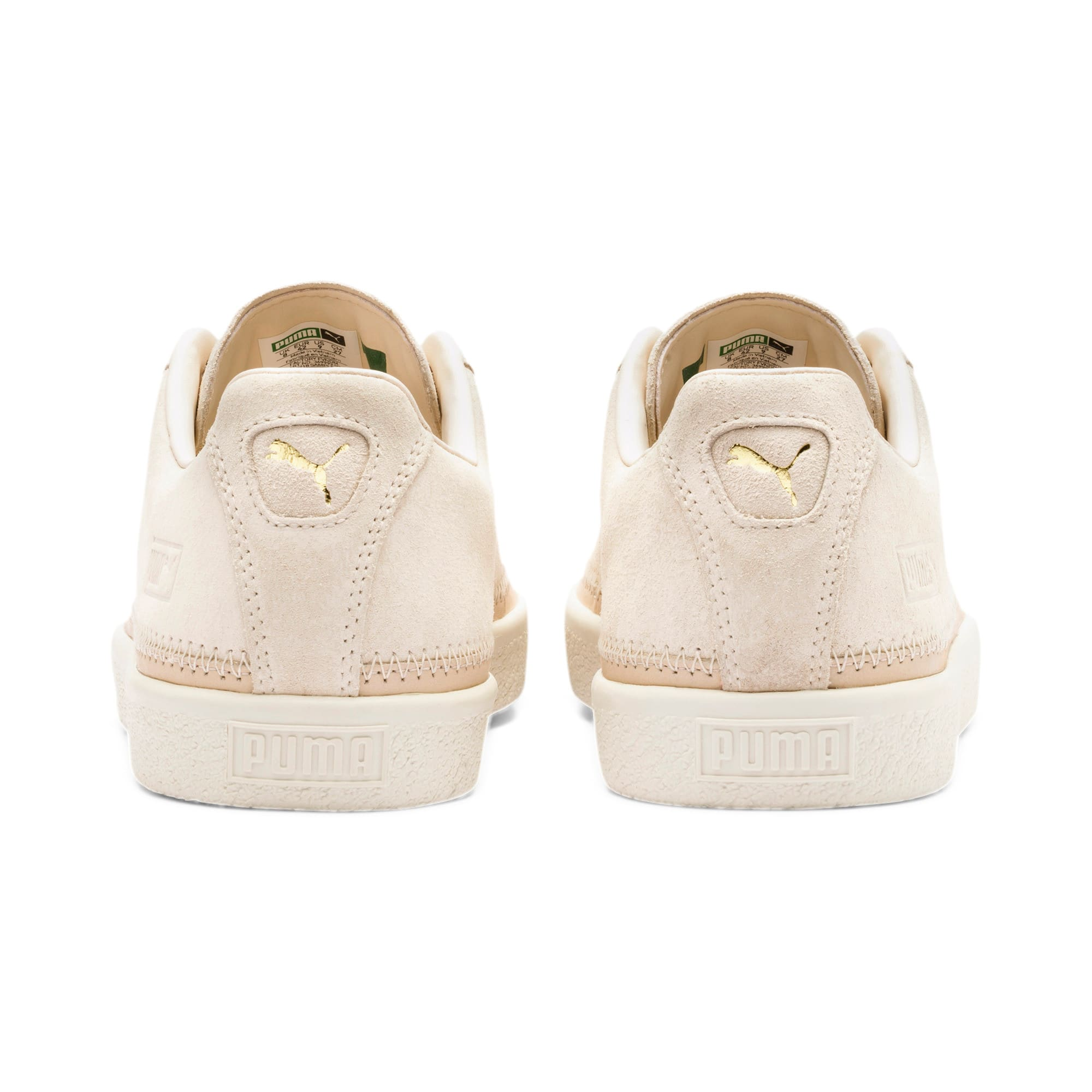 Thumbnail 5 of Suede Trim PRM Sneakers, White Smoke-Whisper White, medium