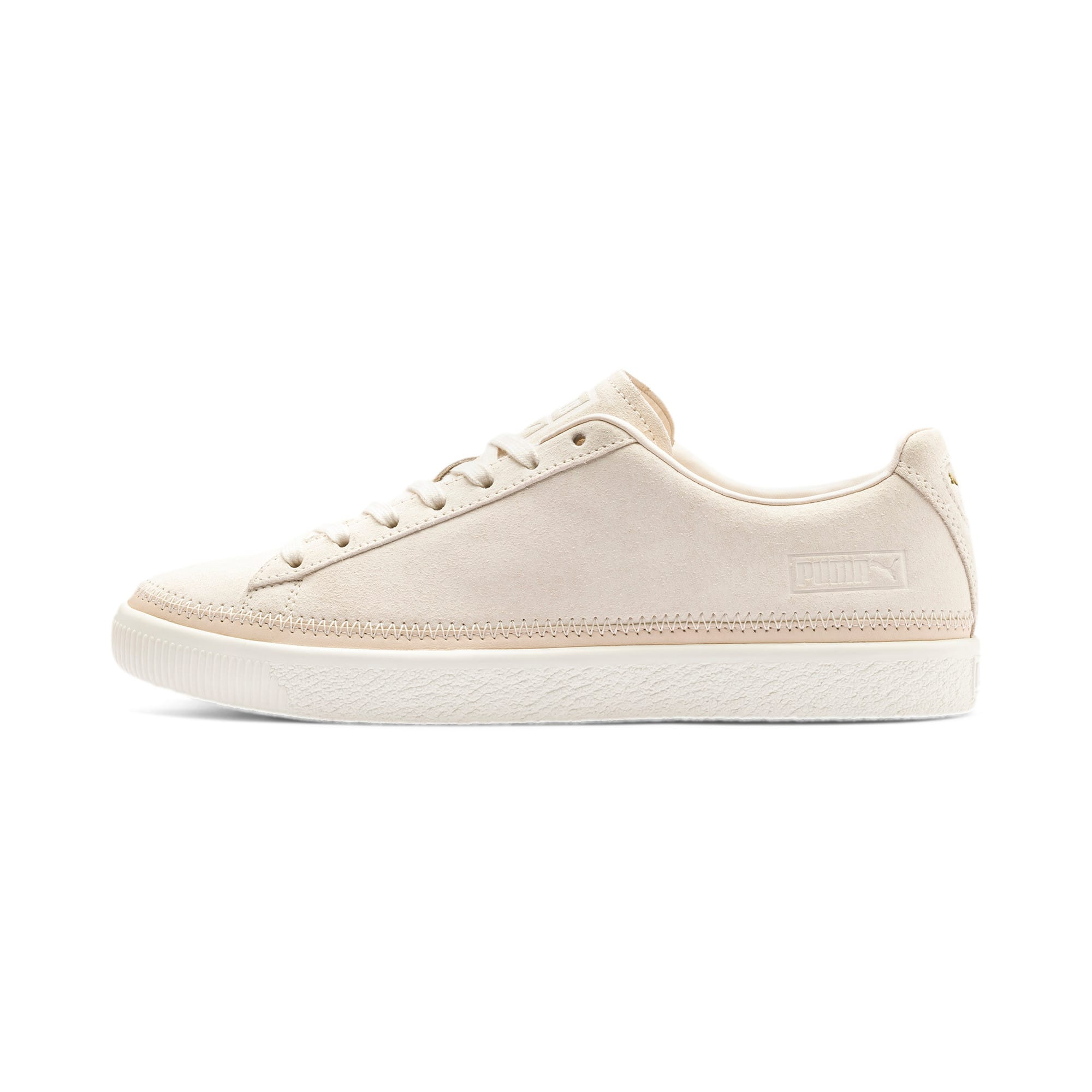 Thumbnail 1 of Suede Trim PRM Sneakers, White Smoke-Whisper White, medium