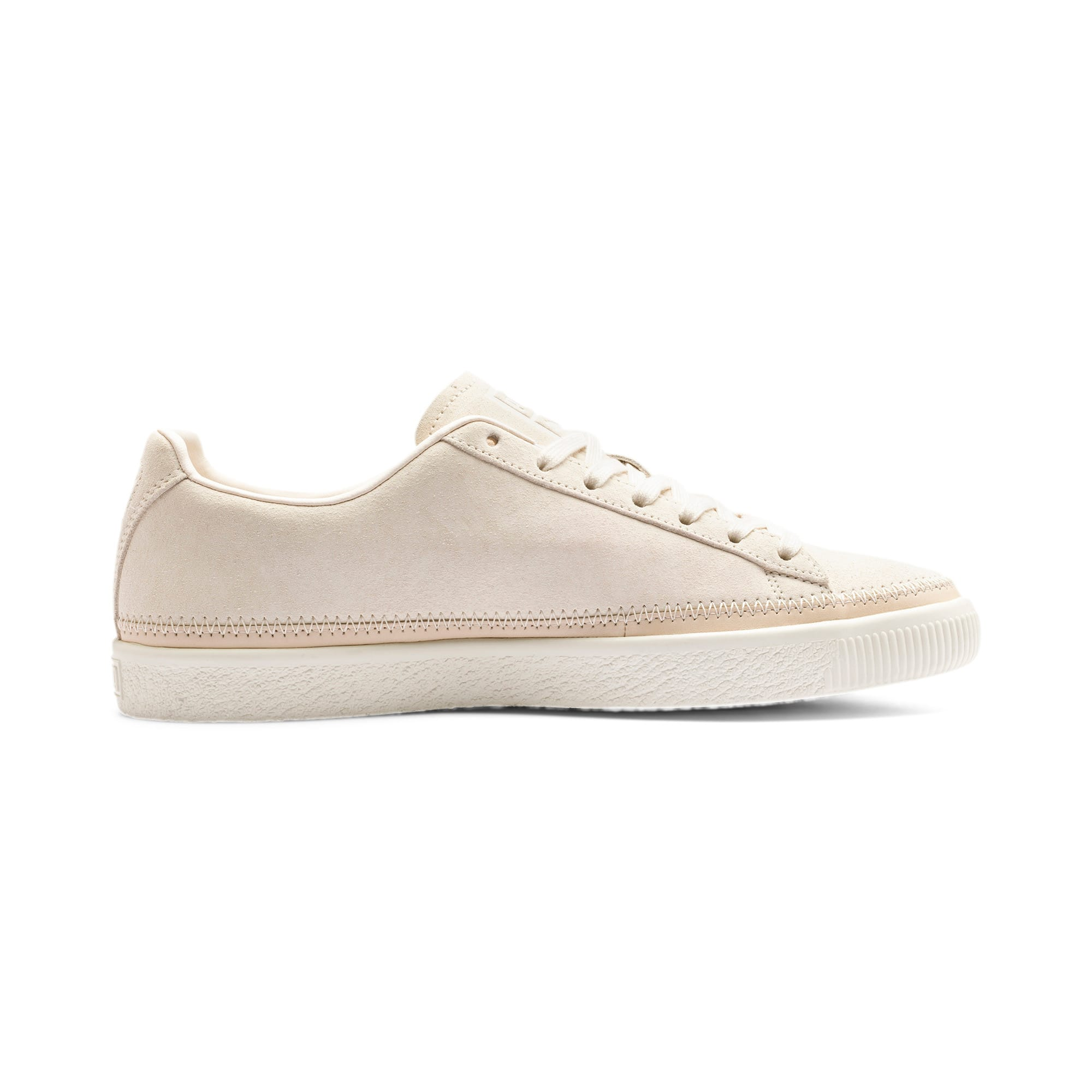 Thumbnail 6 of Suede Trim PRM Sneakers, White Smoke-Whisper White, medium