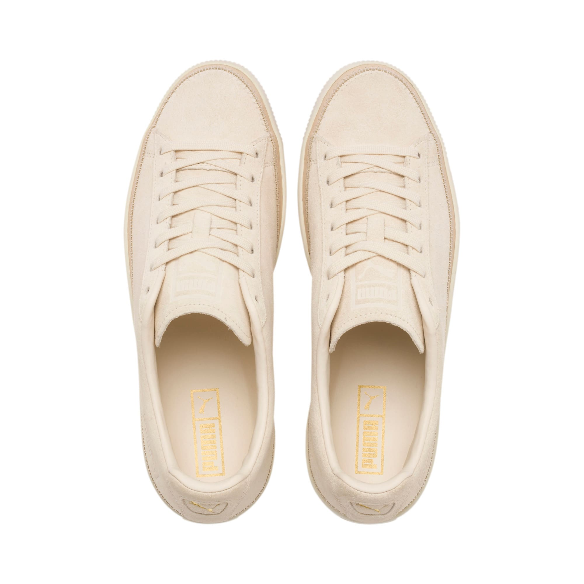 Thumbnail 7 of Suede Trim PRM Sneakers, White Smoke-Whisper White, medium