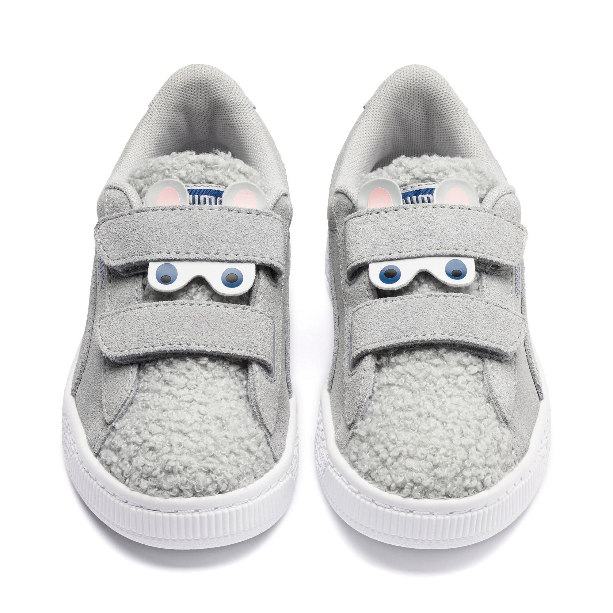 Thumbnail 7 of Suede Winter Monster Little Kids' Shoes, High Rise-Galaxy Blue, medium