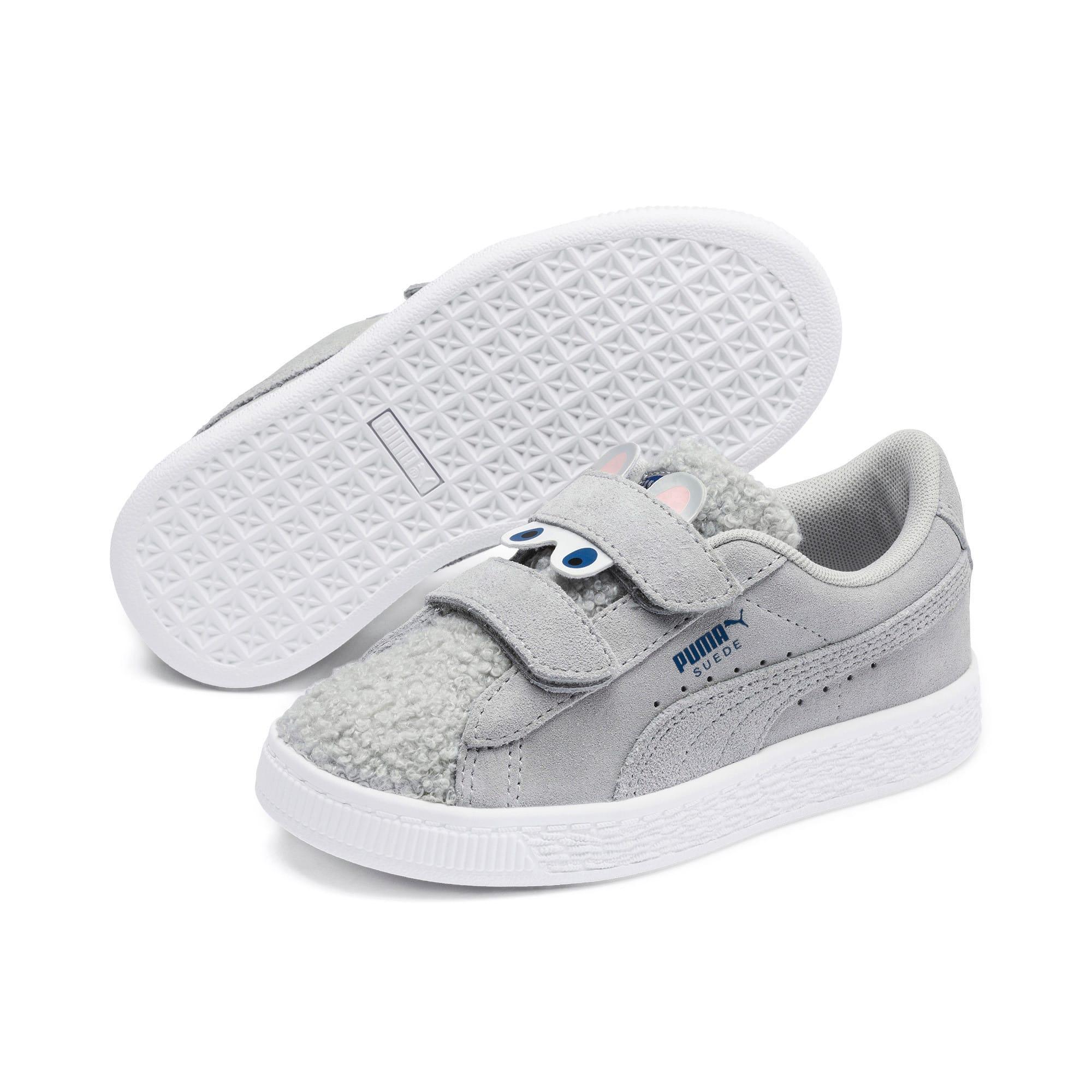 Thumbnail 2 of Suede Winter Monster Little Kids' Shoes, High Rise-Galaxy Blue, medium