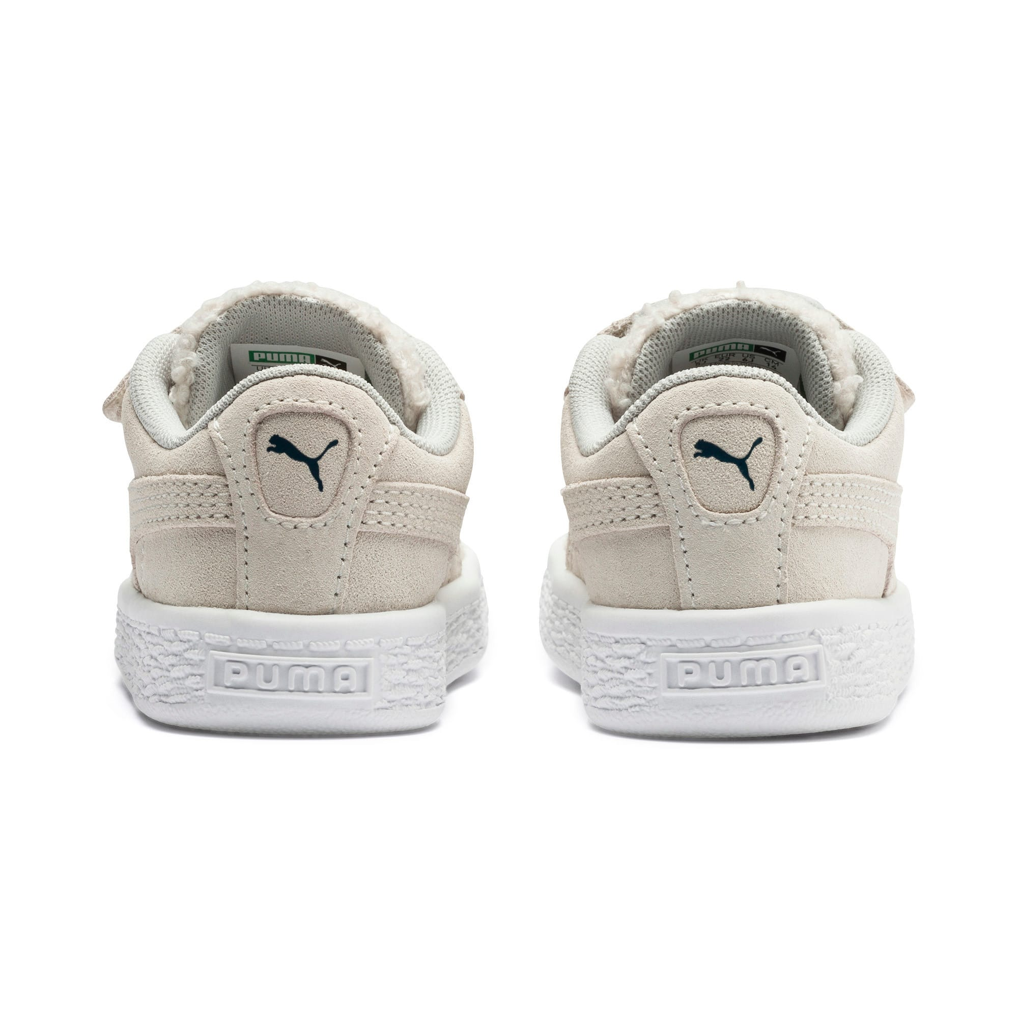Thumbnail 3 of Suede Winter Monster Babies' Trainers, Whisper White-Gibraltar Sea, medium