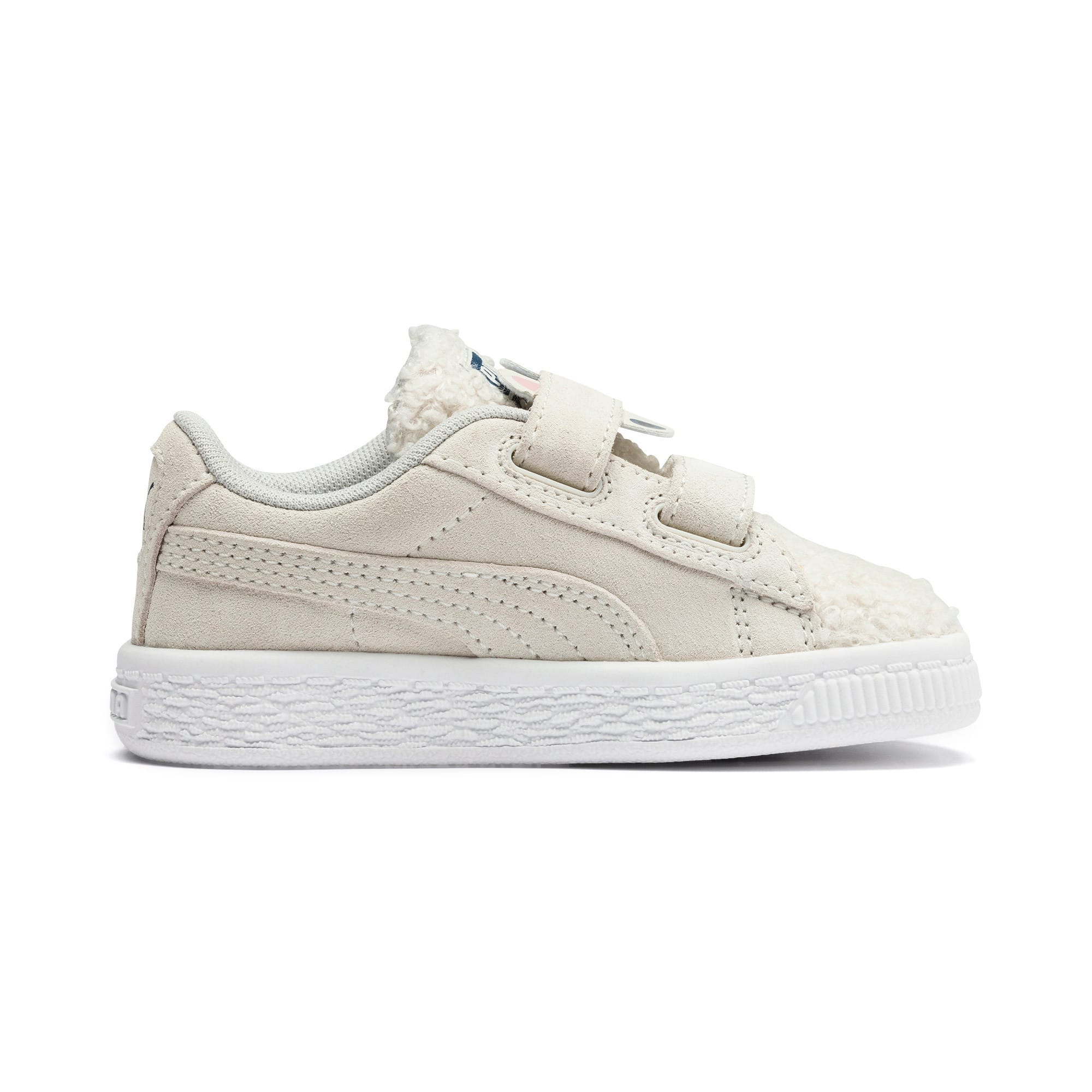 Thumbnail 5 of Suede Winter Monster Babies' Trainers, Whisper White-Gibraltar Sea, medium