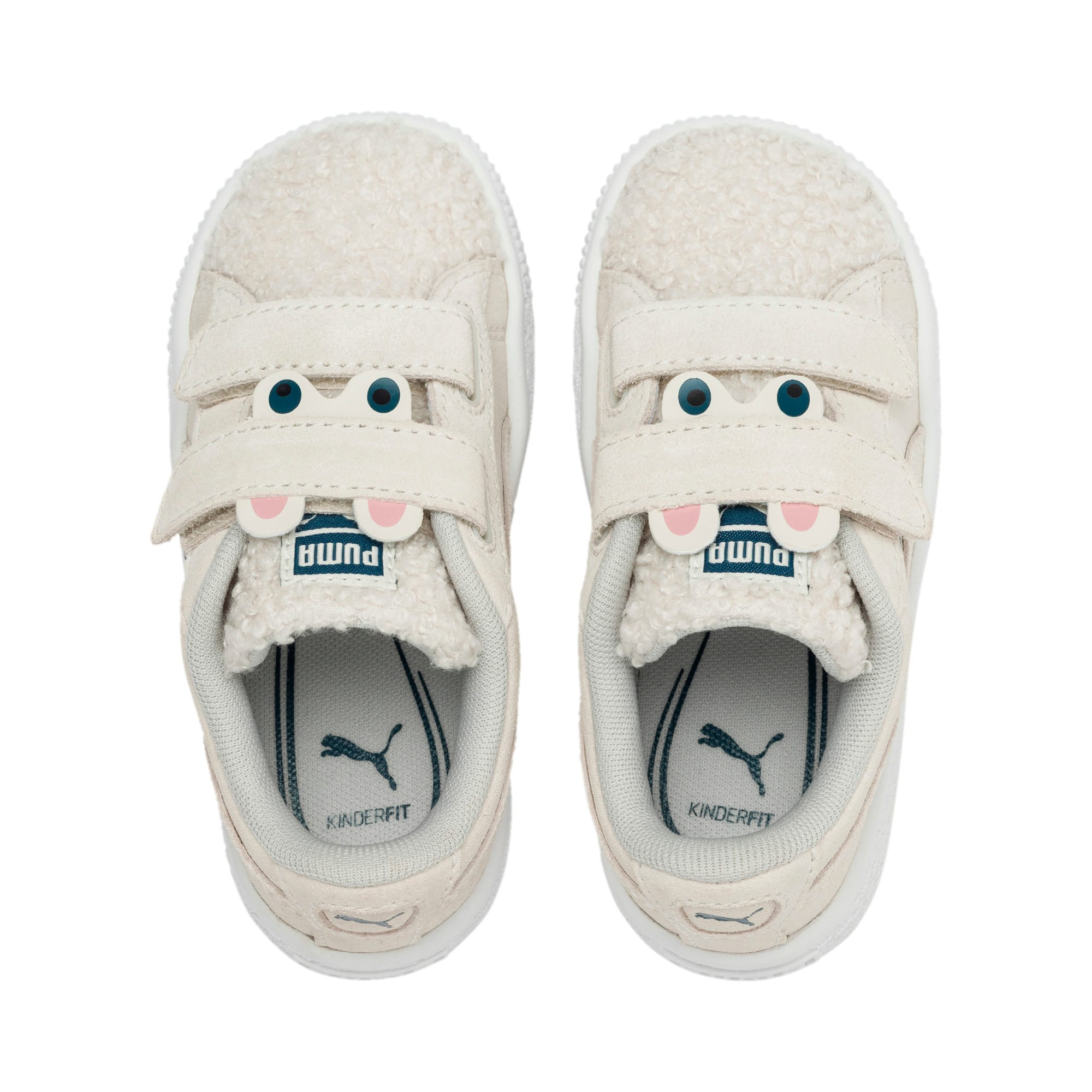 Thumbnail 6 of Suede Winter Monster Babies' Trainers, Whisper White-Gibraltar Sea, medium