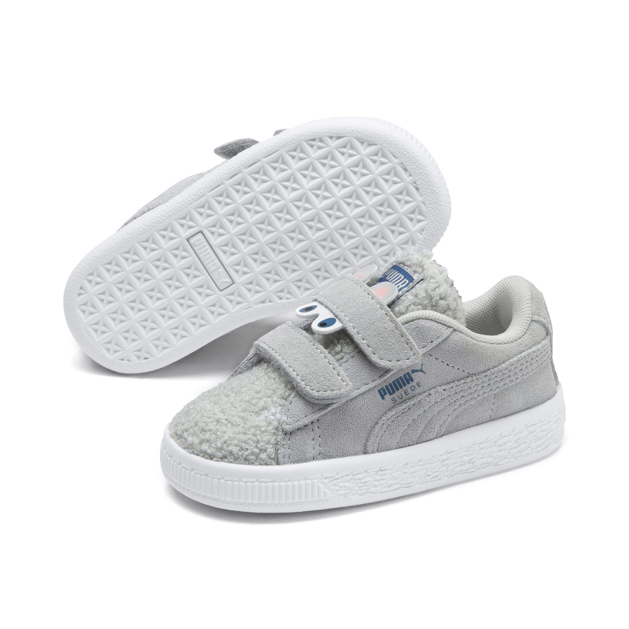 Thumbnail 2 of Suede Winter Monster Toddler Shoes, High Rise-Galaxy Blue, medium