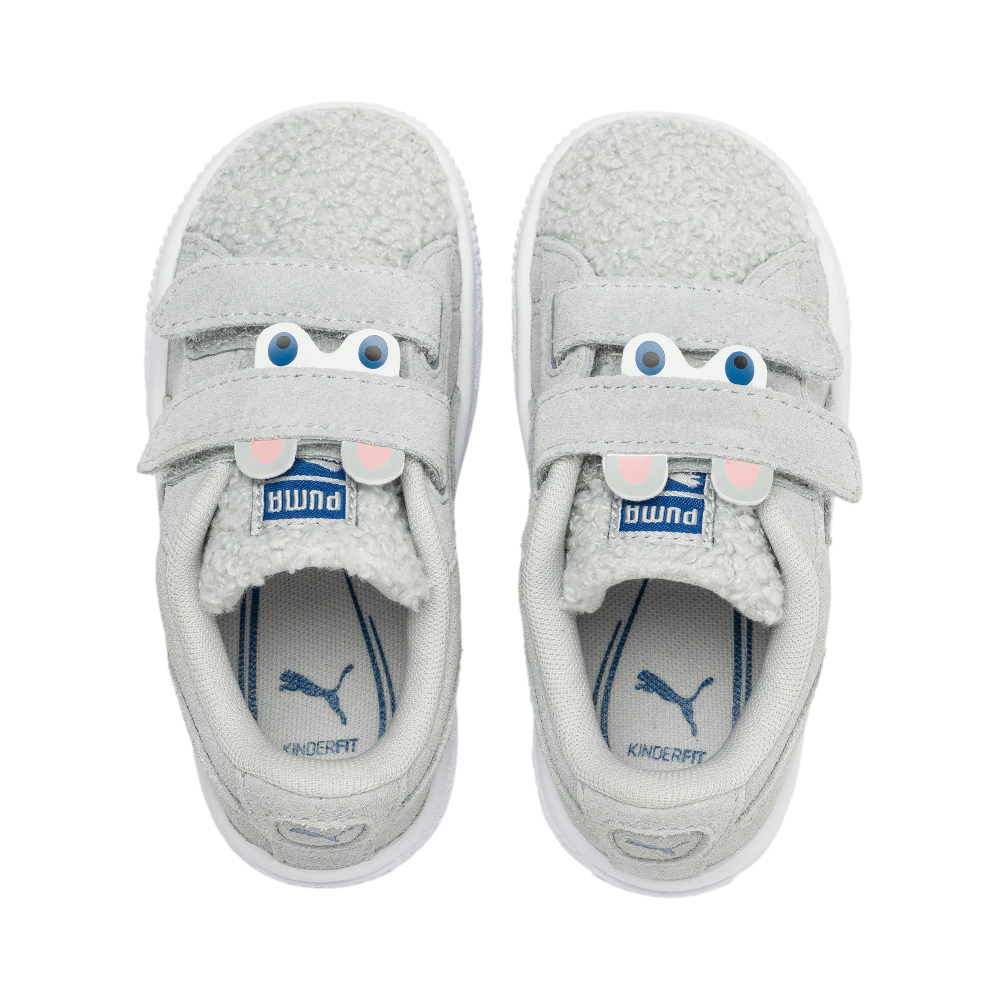 Thumbnail 6 of Suede Winter Monster Toddler Shoes, High Rise-Galaxy Blue, medium