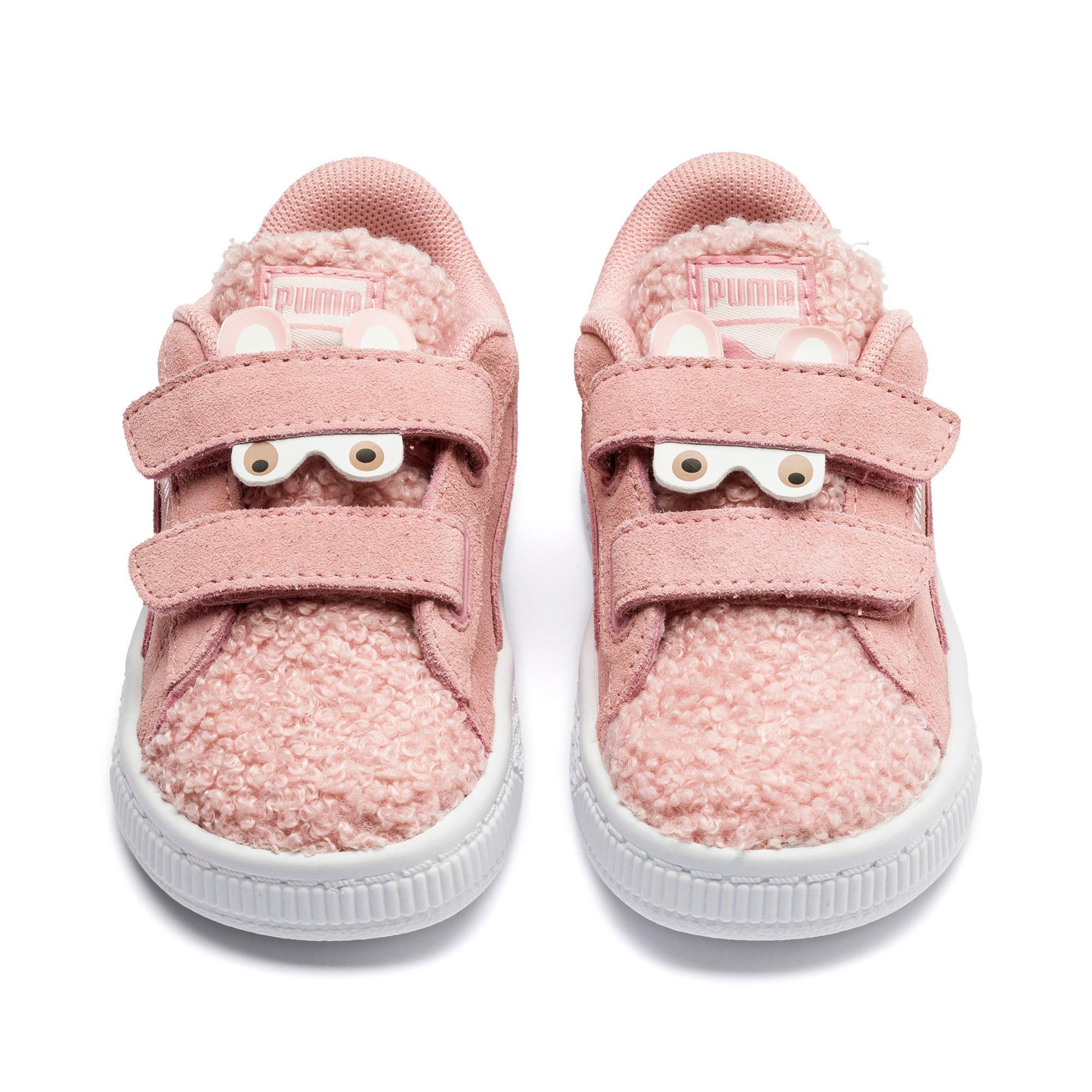 Thumbnail 7 of Suede Winter Monster Toddler Shoes, Bridal Rose-Mocha Mousse, medium