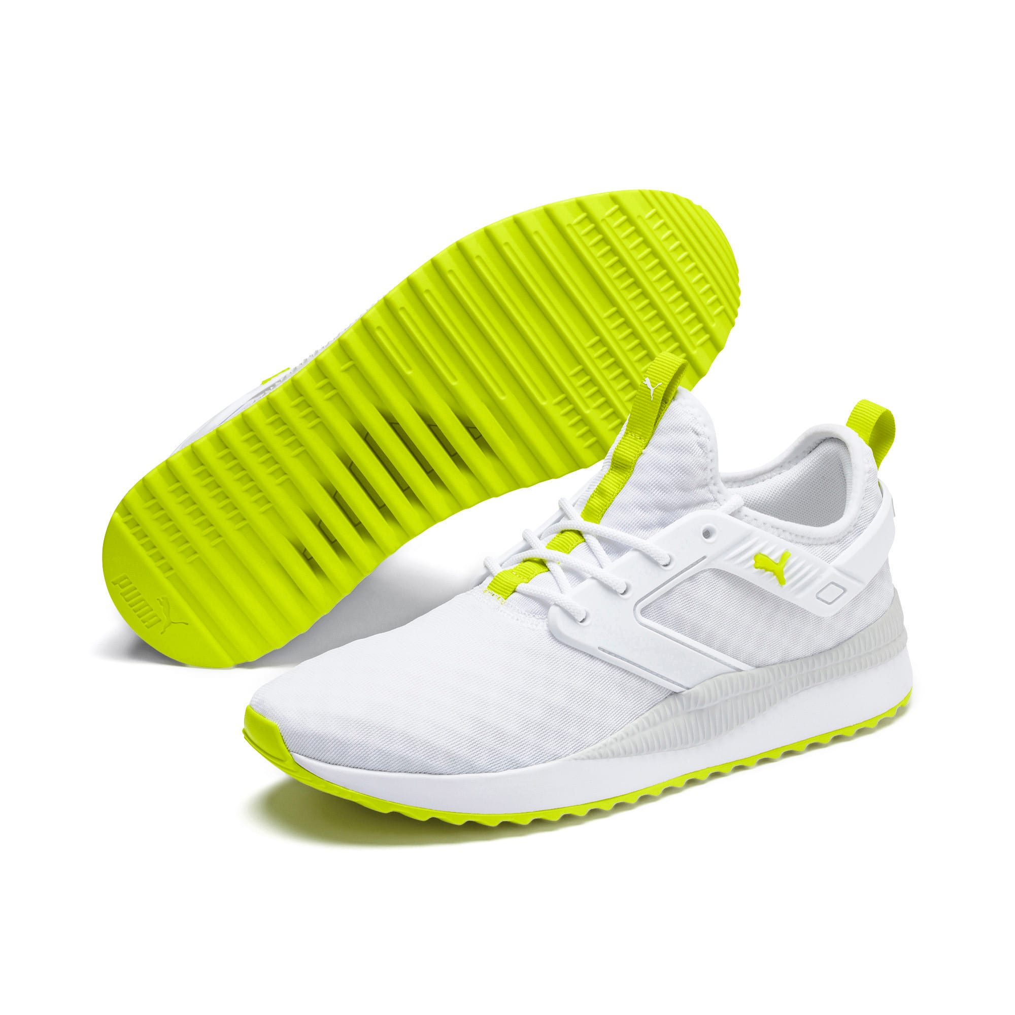 Thumbnail 3 of Pacer Next Excel Core Sneakers, Puma White-Nrgy Yellow, medium