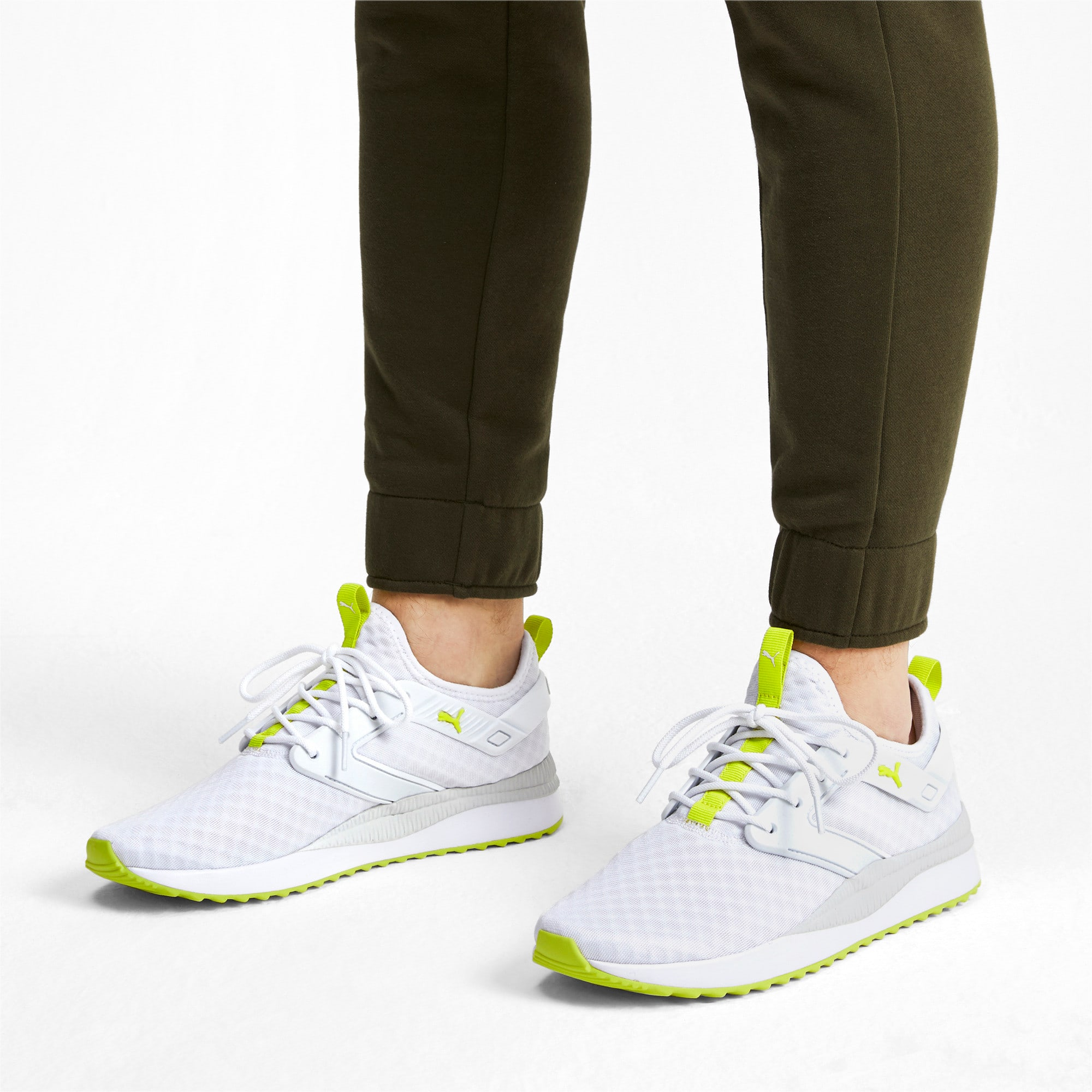 Thumbnail 2 of Pacer Next Excel Core Sneakers, Puma White-Nrgy Yellow, medium