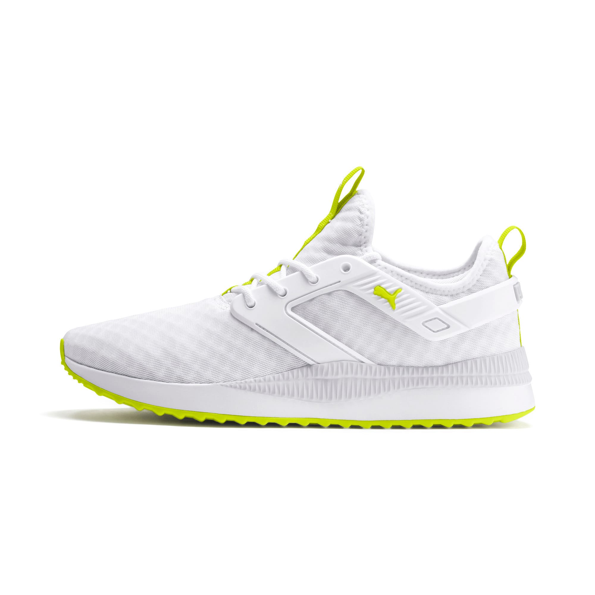 Thumbnail 1 of Pacer Next Excel Core Sneakers, Puma White-Nrgy Yellow, medium
