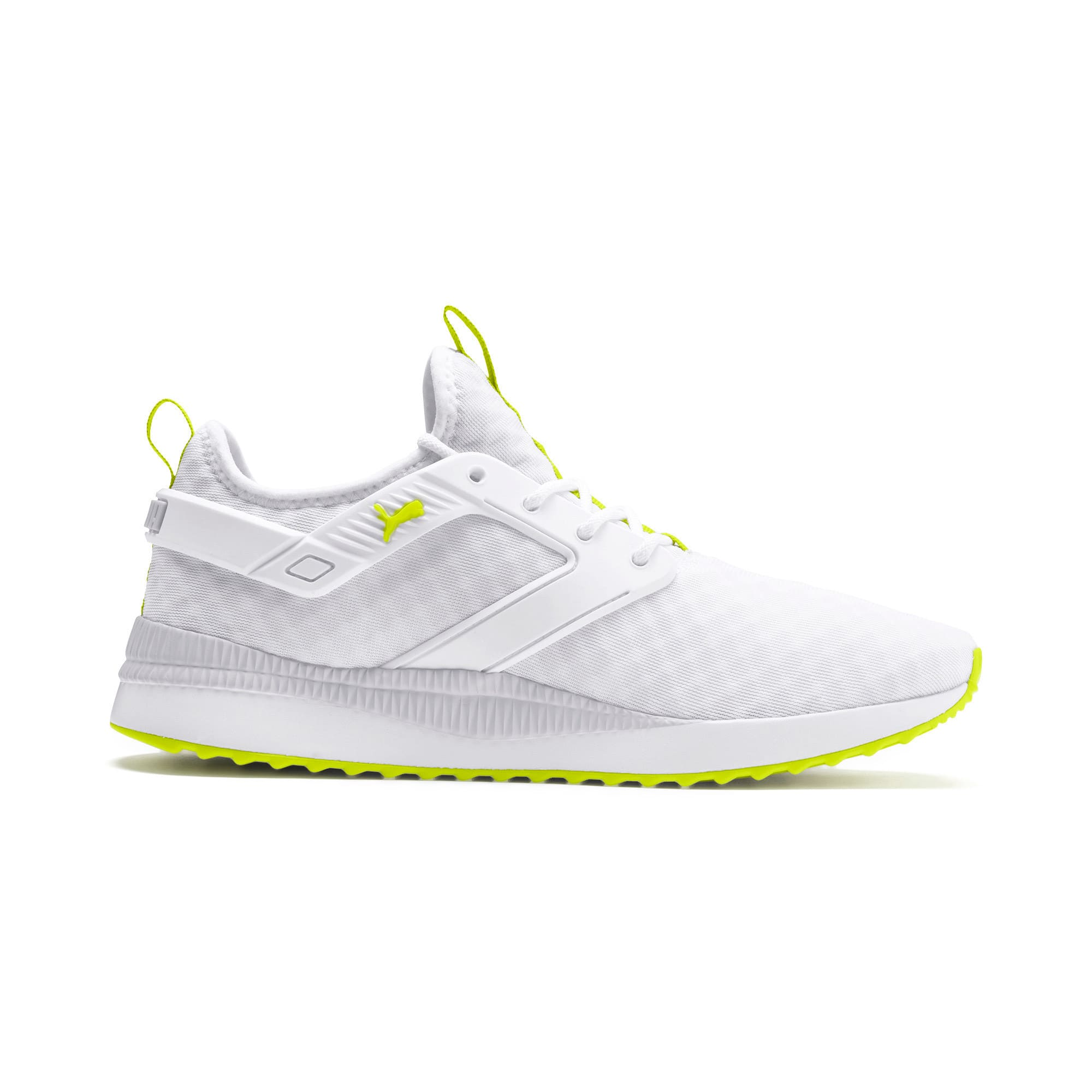 Thumbnail 6 of Pacer Next Excel Core Sneakers, Puma White-Nrgy Yellow, medium
