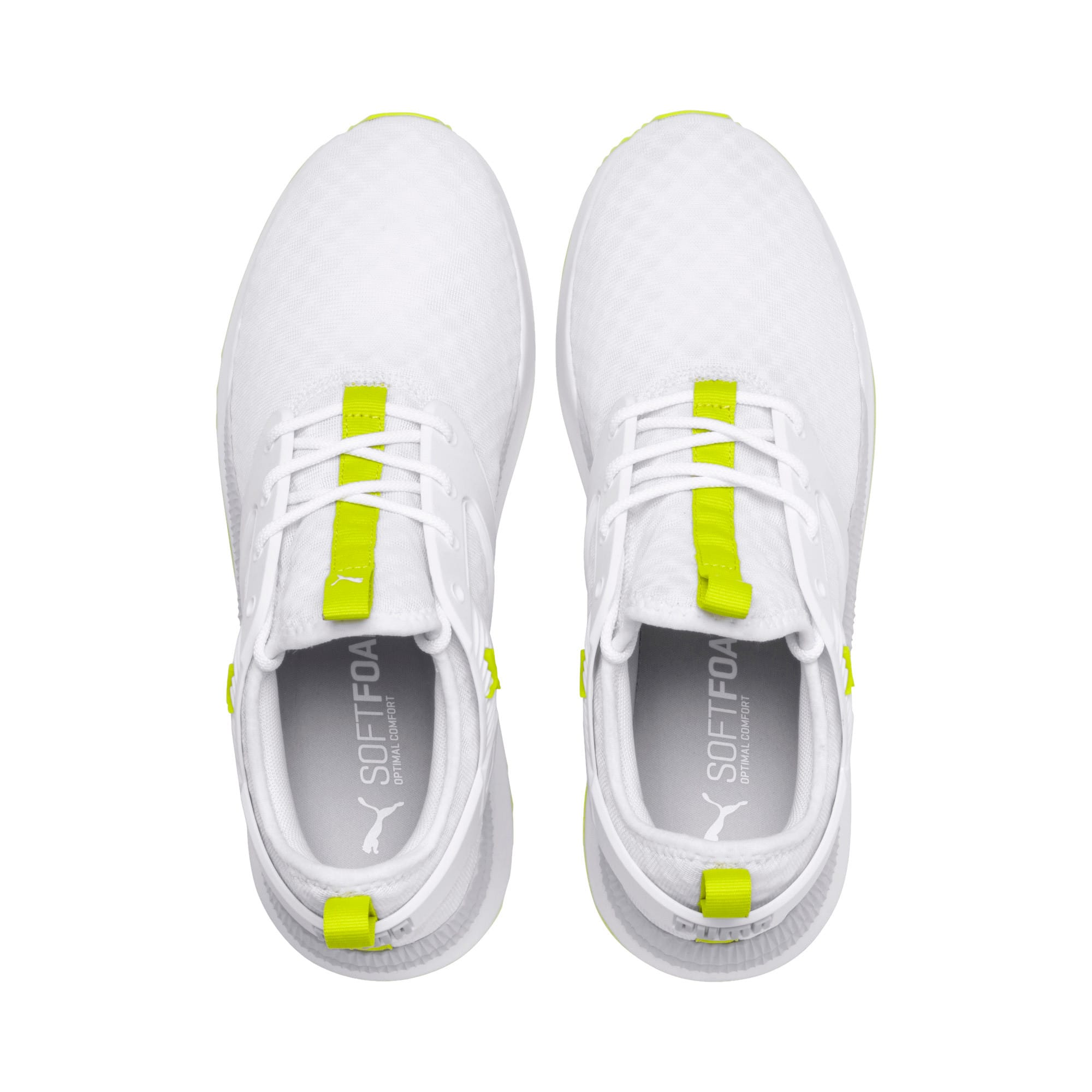 Thumbnail 7 of Pacer Next Excel Core Sneakers, Puma White-Nrgy Yellow, medium