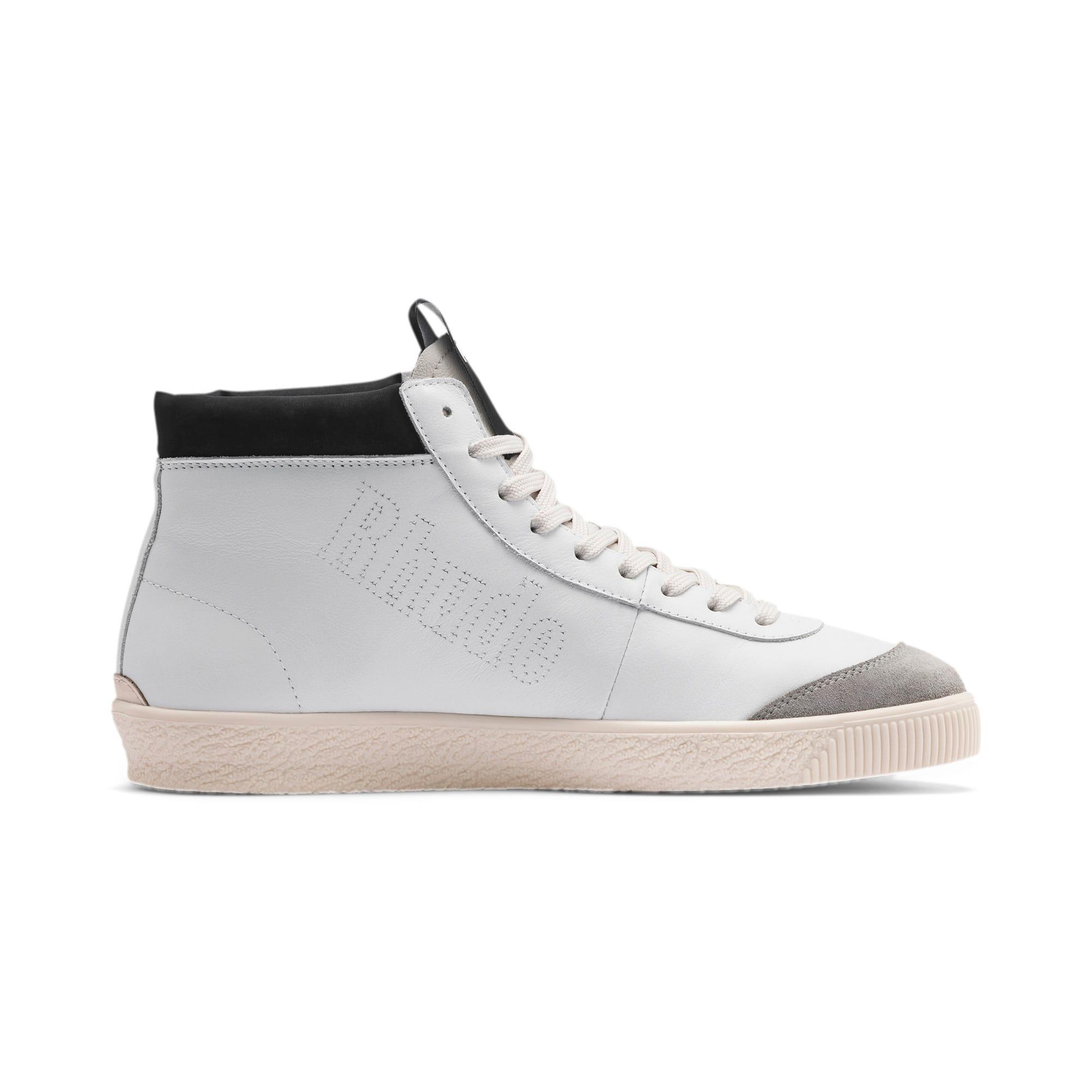 Thumbnail 5 of PUMA x RHUDE Basket '68 OG Mid Sneakers, Blanc de Blanc-Drizzle, medium