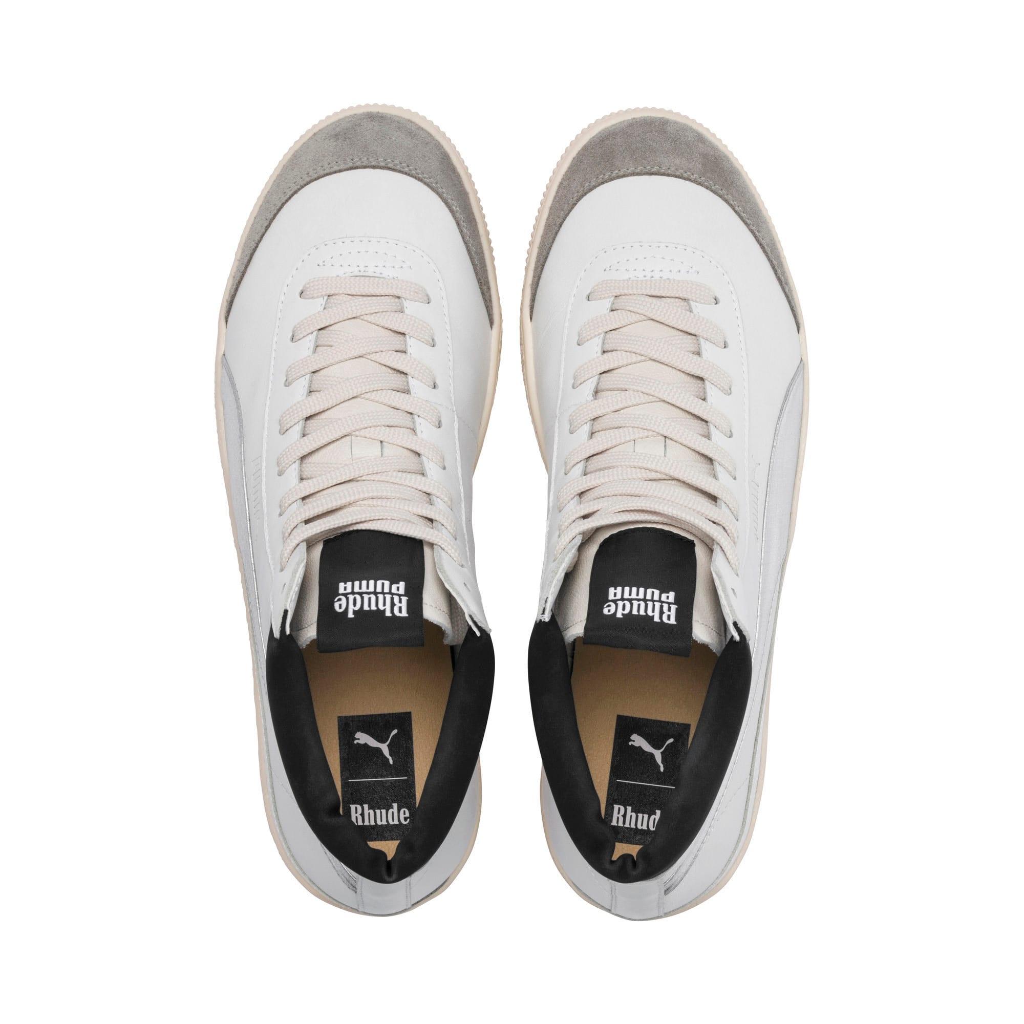 Thumbnail 6 of PUMA x RHUDE Basket '68 OG Basketball Shoes, Blanc de Blanc-Drizzle, medium