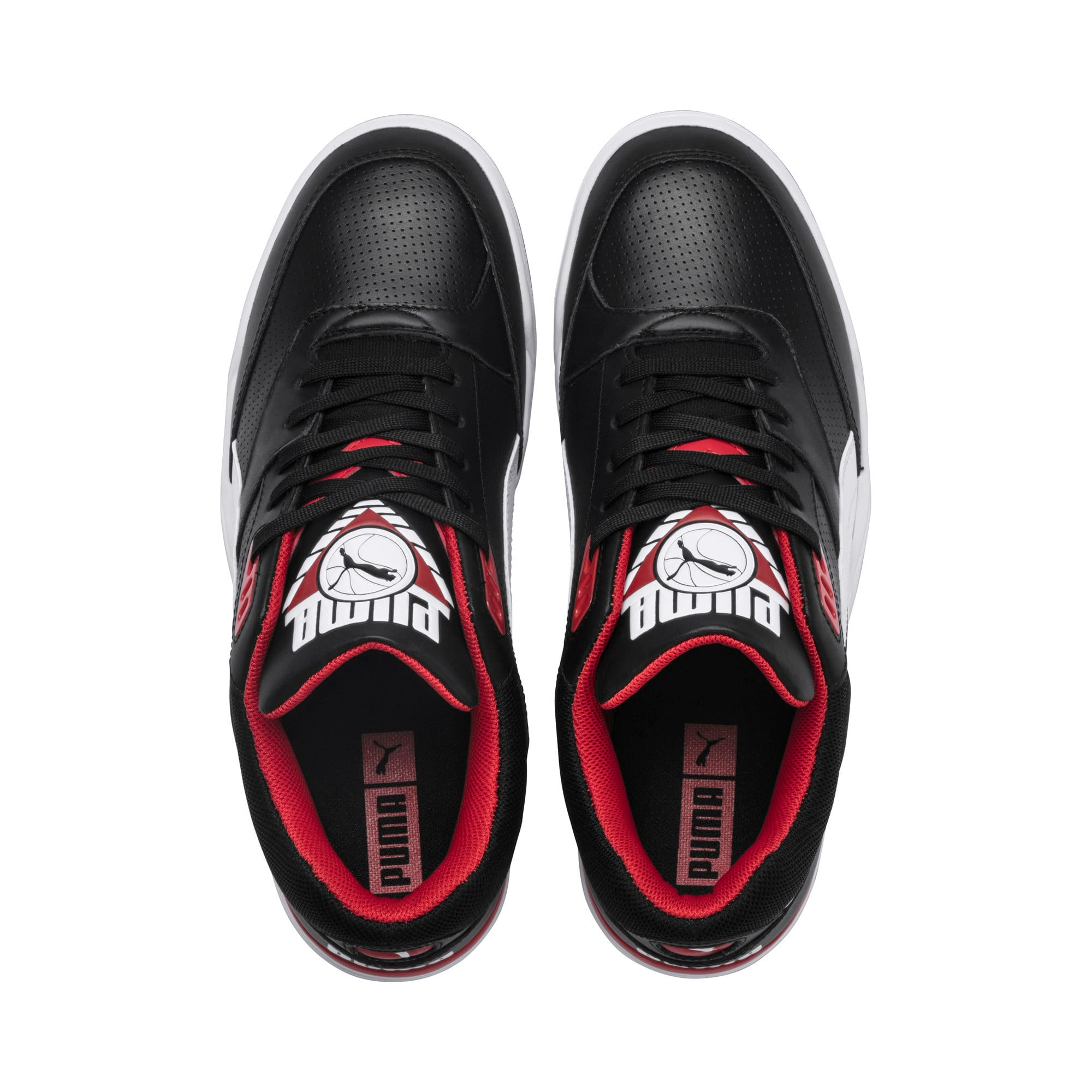 Thumbnail 6 of Palace Guard Men's Basketball Trainers, Puma Black-Puma White-red, medium
