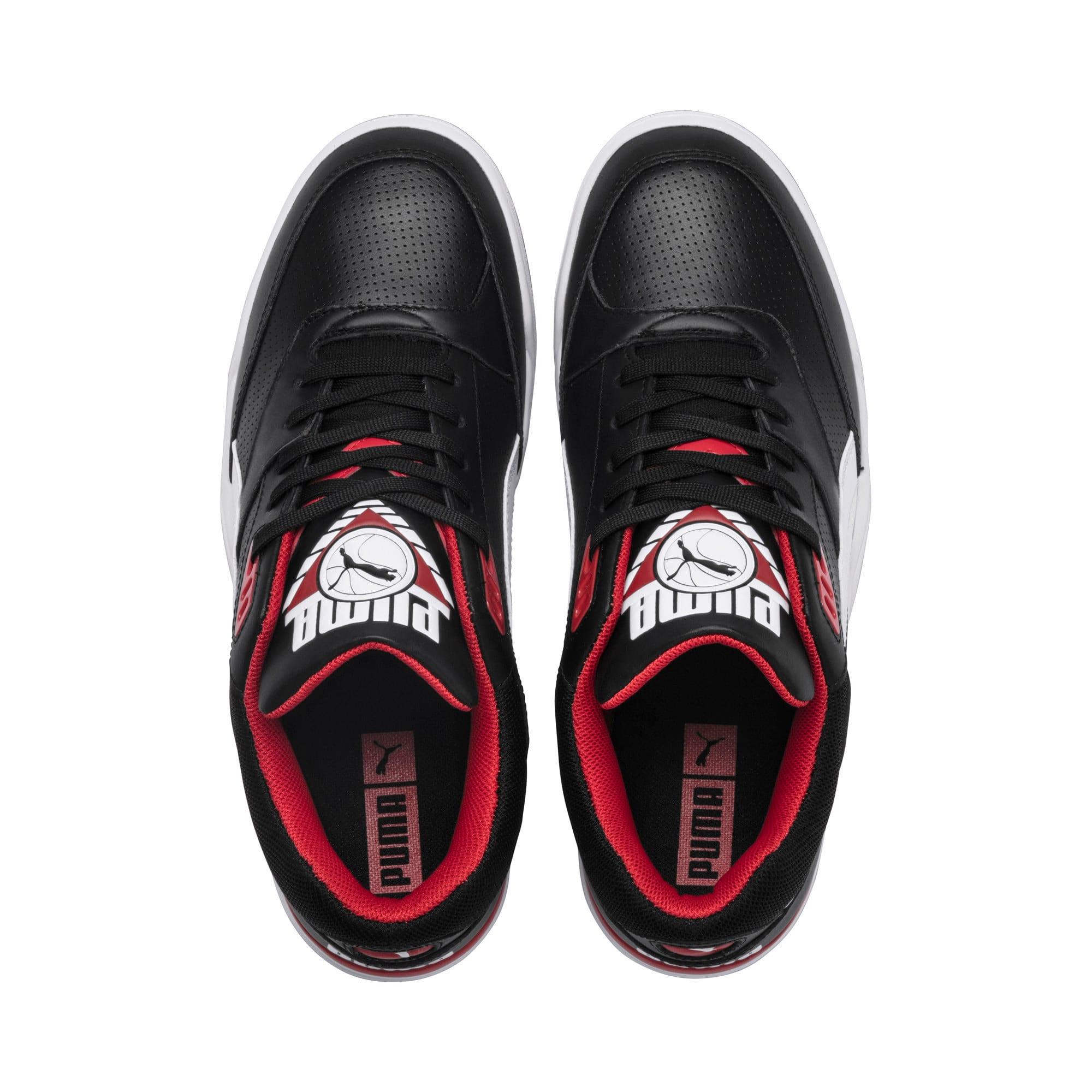 Thumbnail 6 of Basket Palace Guard, Puma Black-Puma White-red, medium