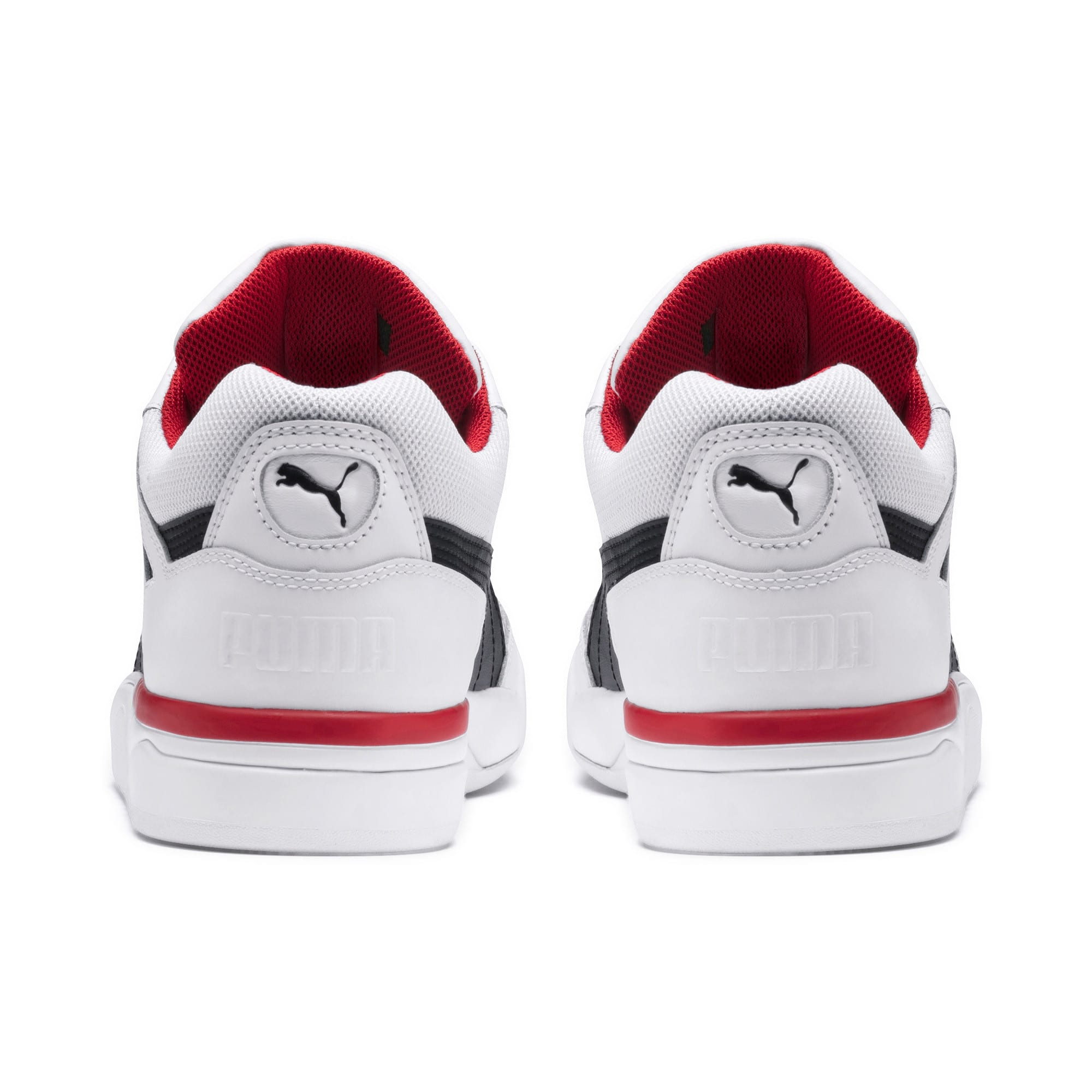 Anteprima 3 di Palace Guard Men's Basketball Trainers, Puma White-Puma Black-red, medio