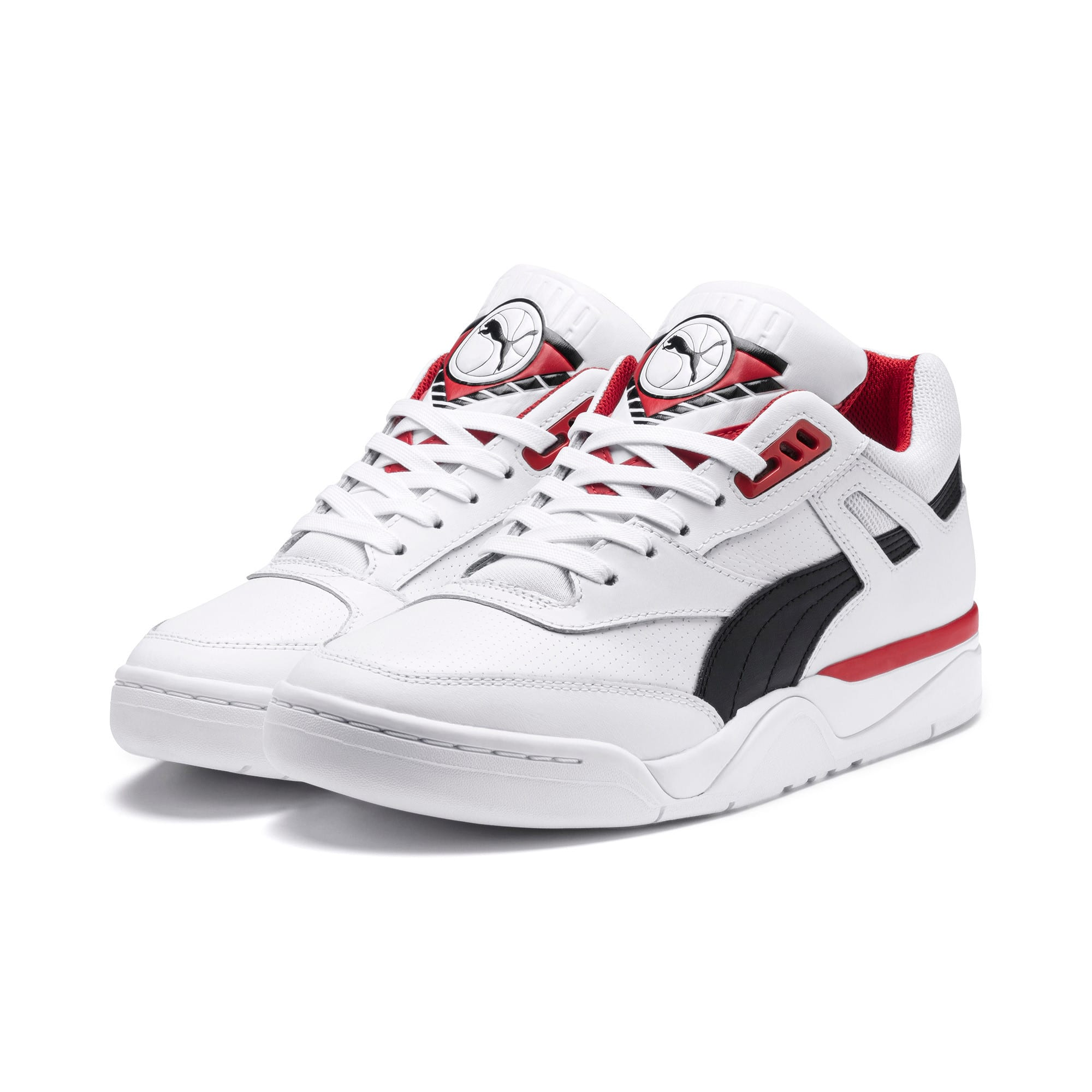 Anteprima 2 di Palace Guard Men's Basketball Trainers, Puma White-Puma Black-red, medio