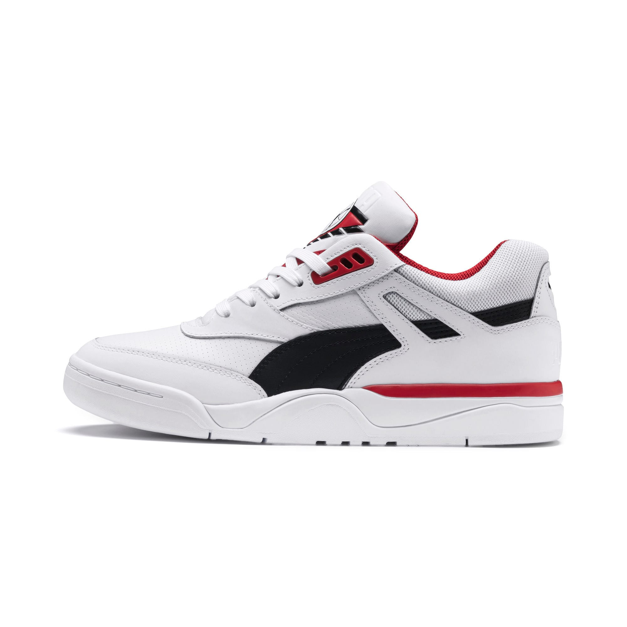 Anteprima 1 di Palace Guard Men's Basketball Trainers, Puma White-Puma Black-red, medio