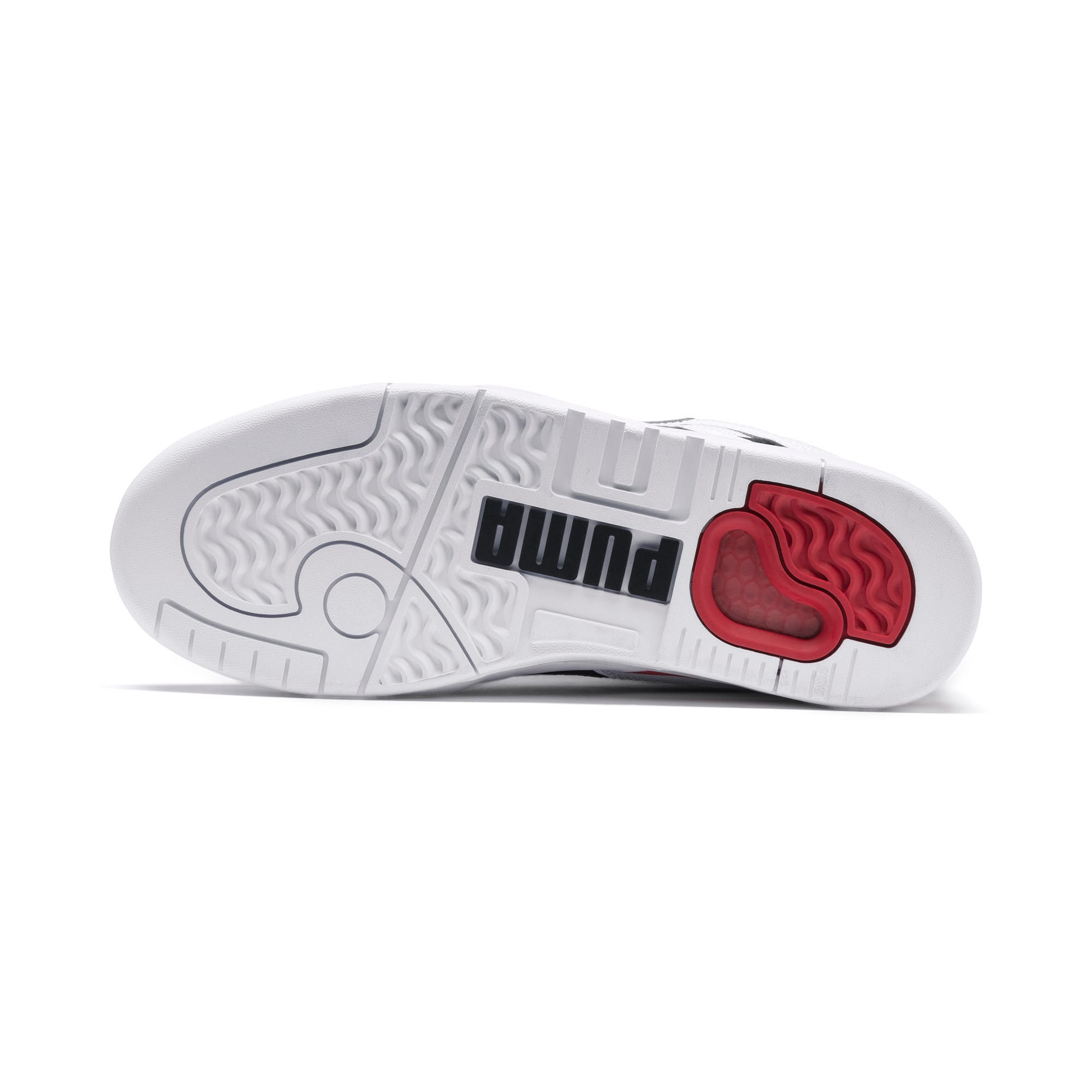 Anteprima 4 di Palace Guard Men's Basketball Trainers, Puma White-Puma Black-red, medio