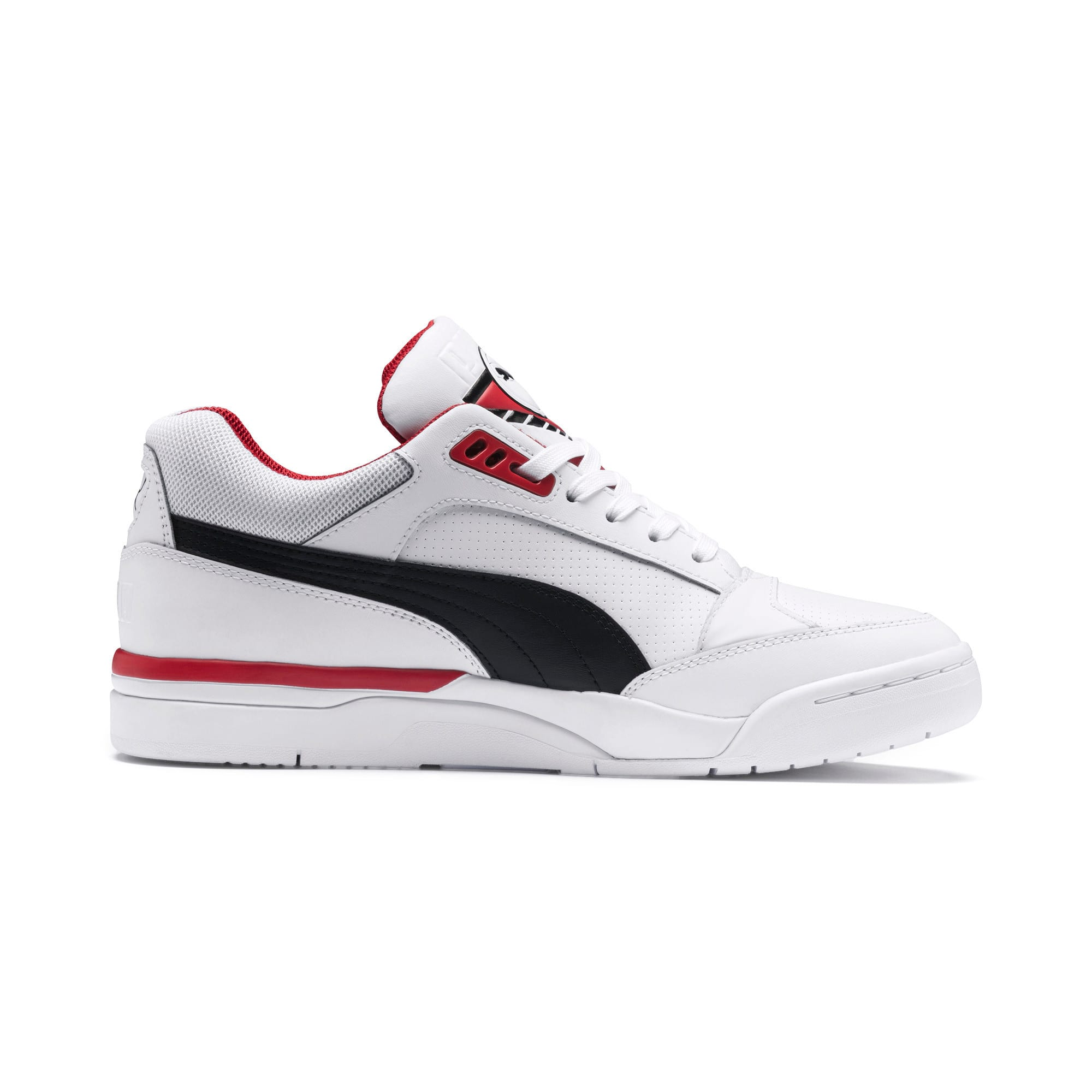 Anteprima 5 di Palace Guard Men's Basketball Trainers, Puma White-Puma Black-red, medio