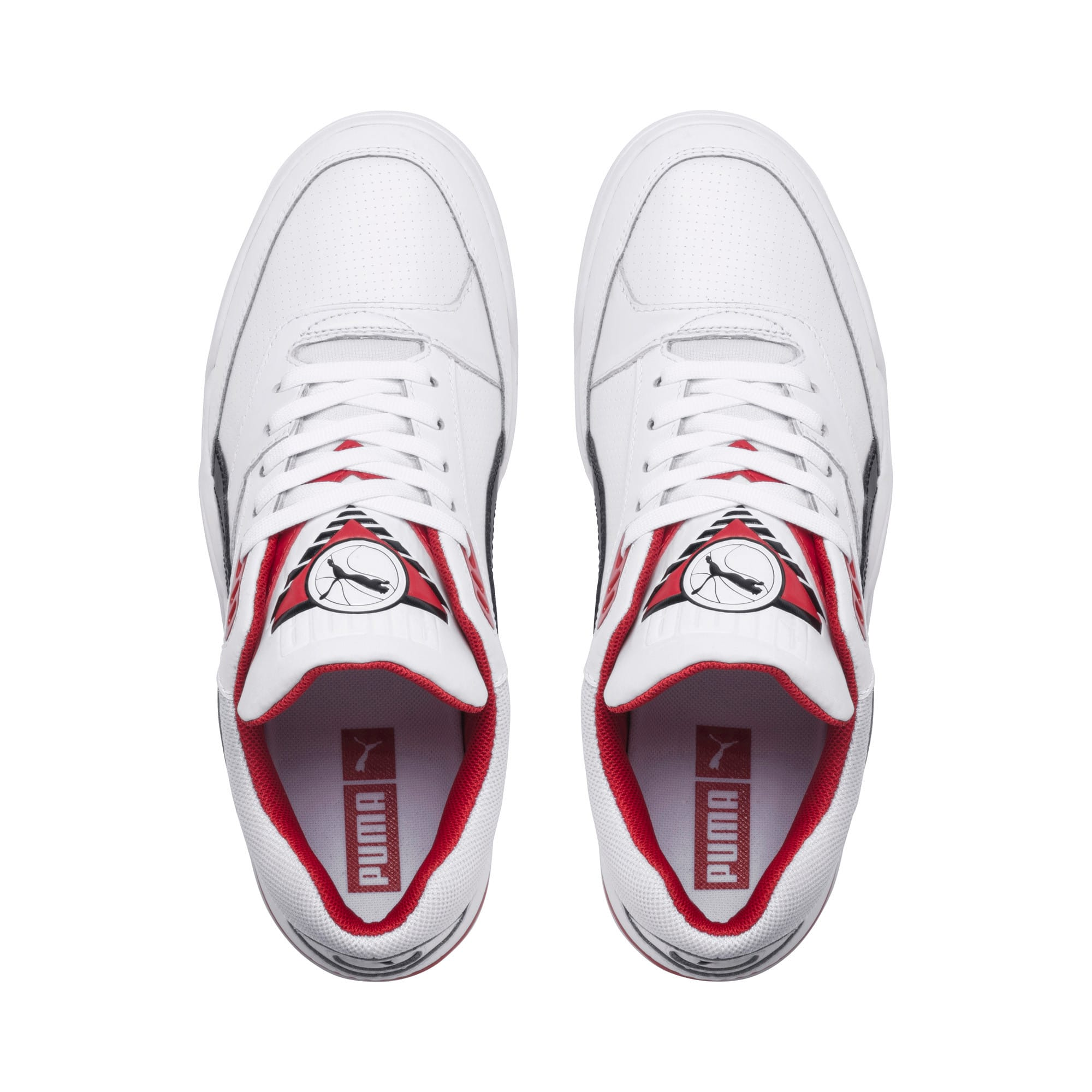 Anteprima 6 di Palace Guard Men's Basketball Trainers, Puma White-Puma Black-red, medio