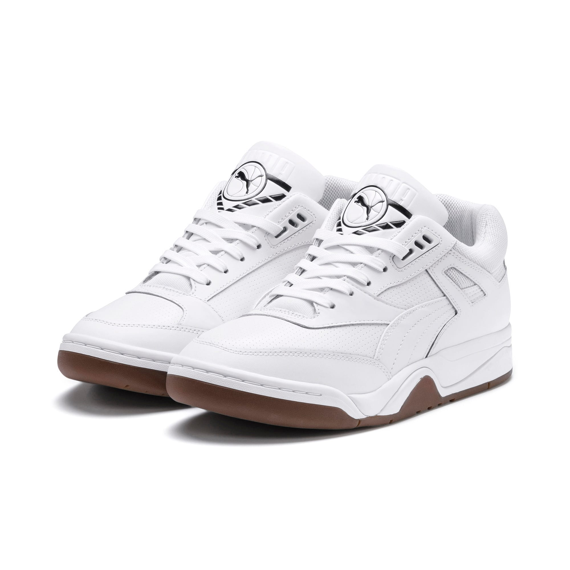 Anteprima 2 di Palace Guard Men's Basketball Trainers, Puma White-Puma White-Gum, medio