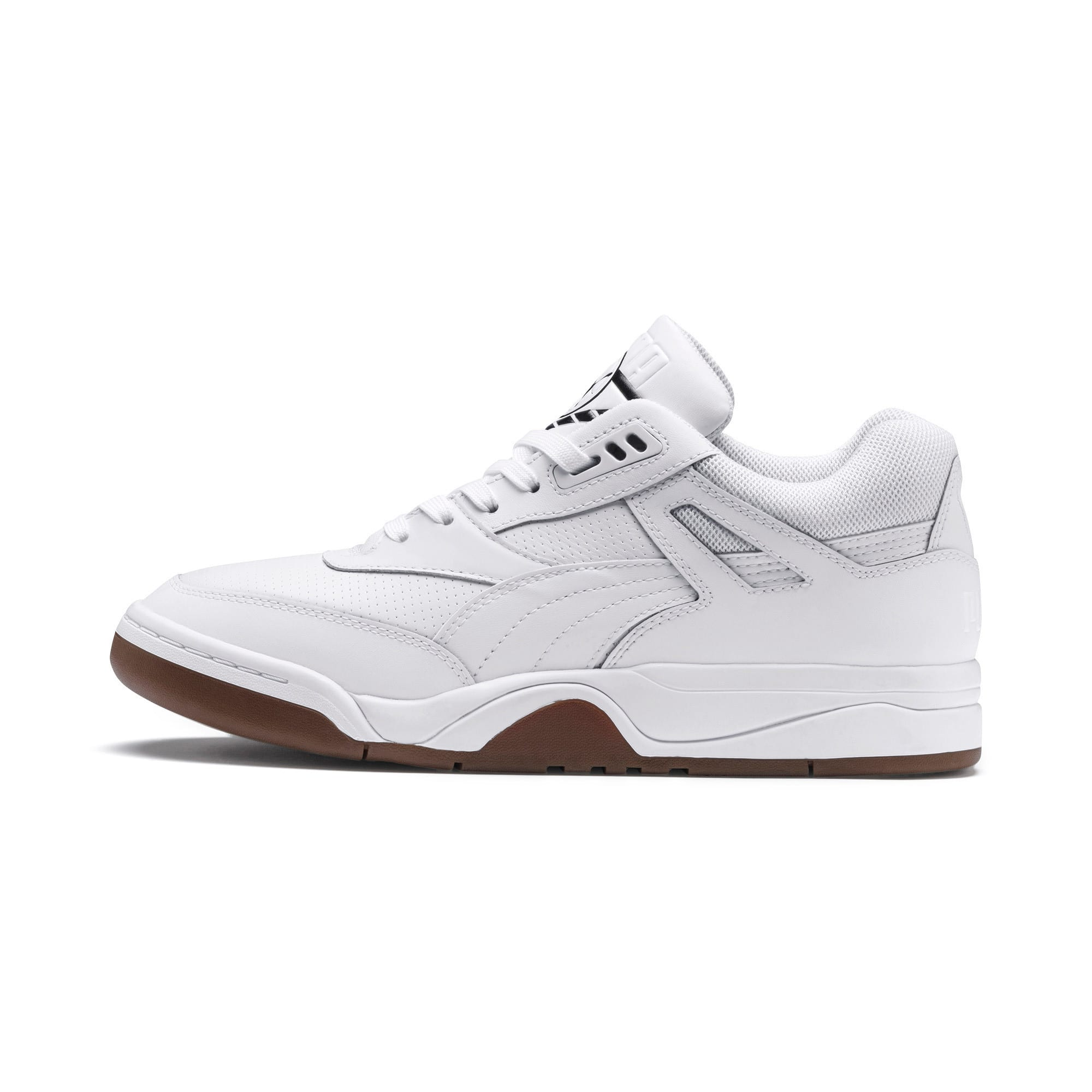Anteprima 1 di Palace Guard Men's Basketball Trainers, Puma White-Puma White-Gum, medio