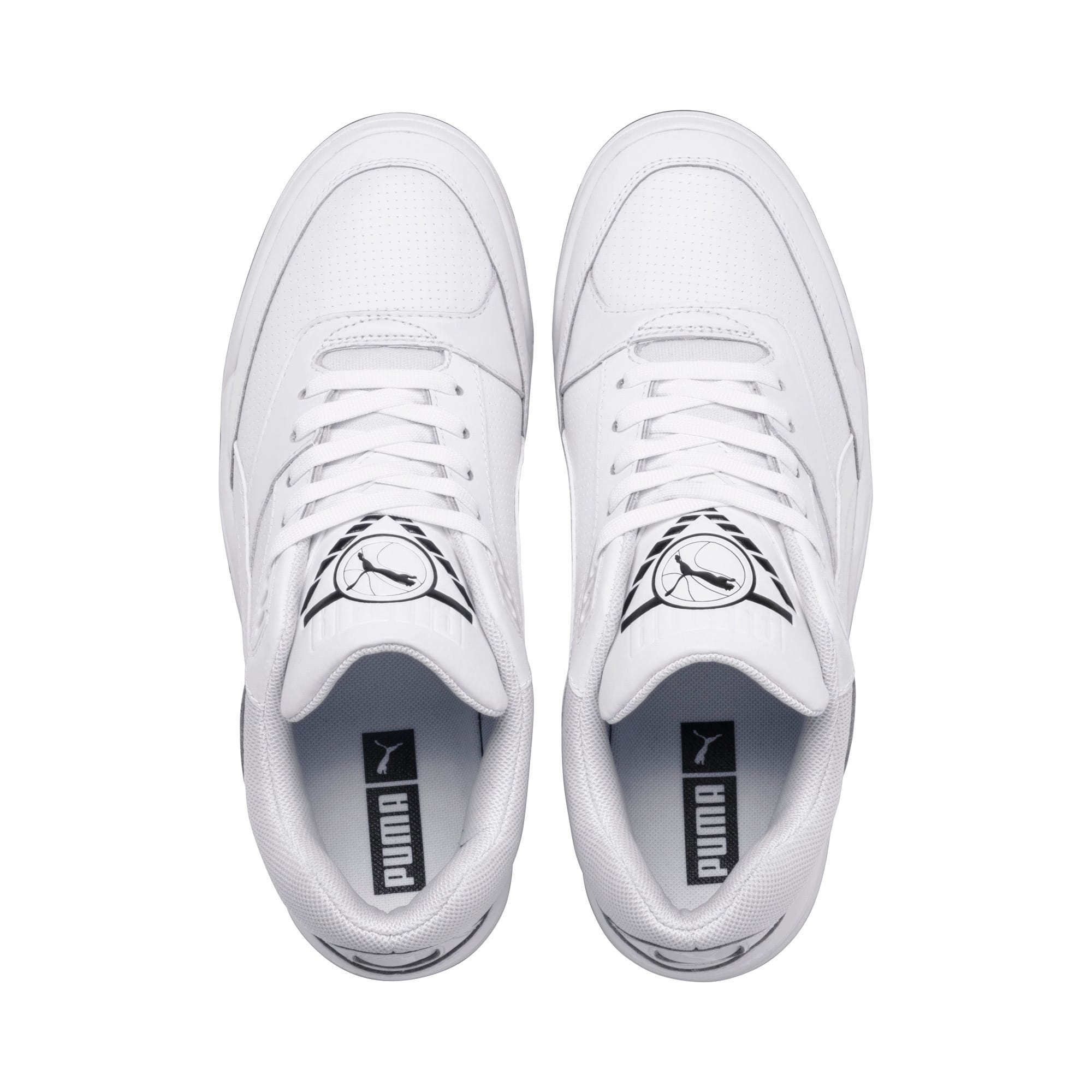 Anteprima 6 di Palace Guard Men's Basketball Trainers, Puma White-Puma White-Gum, medio