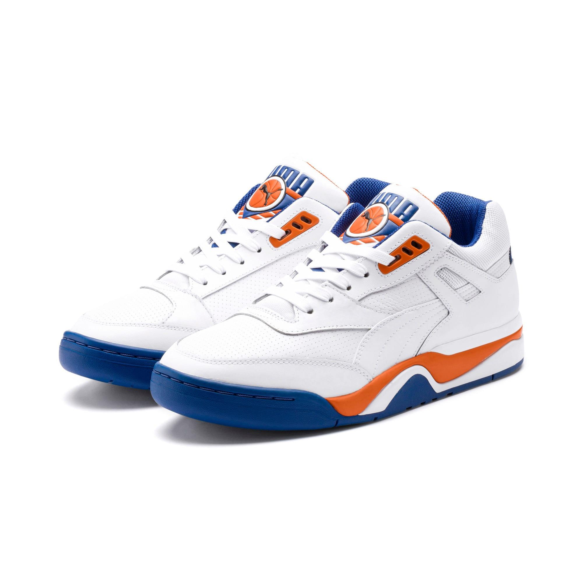 Imagen en miniatura 2 de Zapatillas de baloncesto de hombre Palace Guard, P White-Jaffa Orange-G Blue, mediana