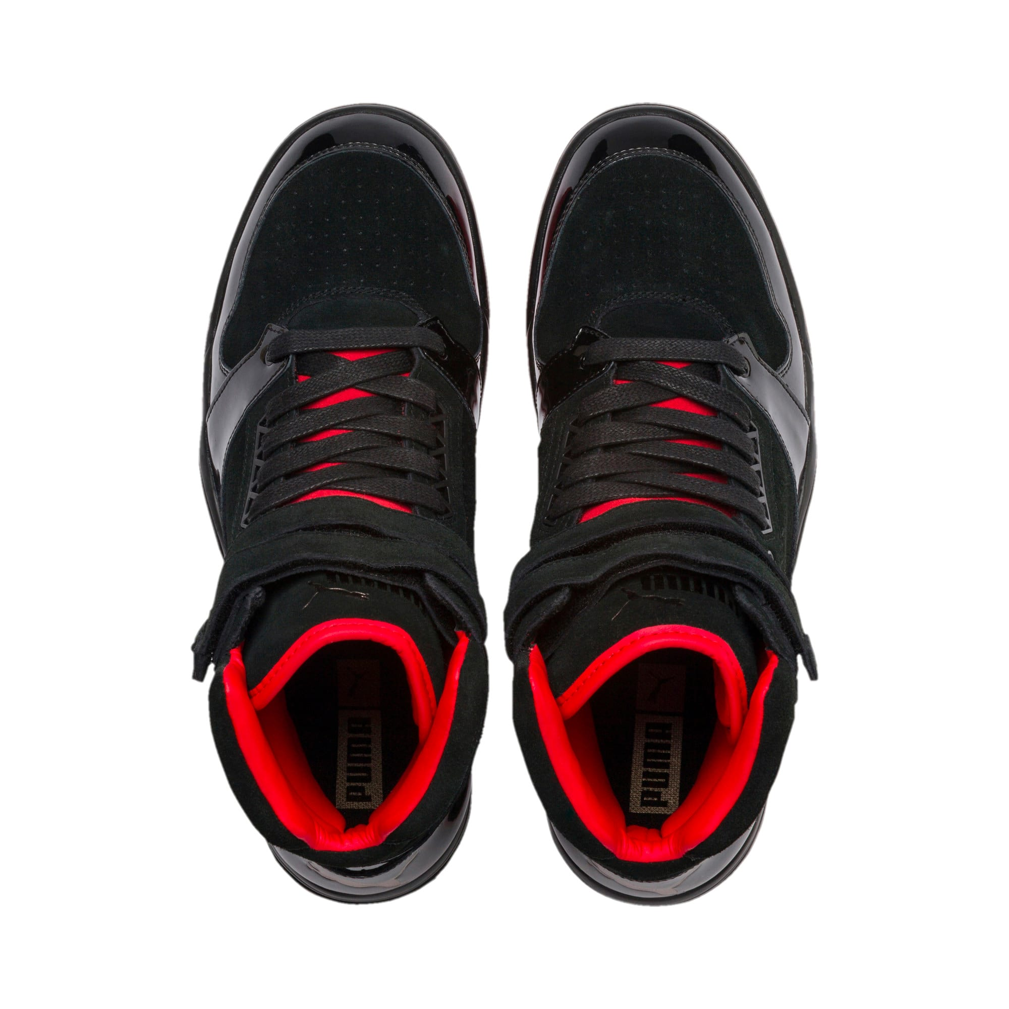 Thumbnail 7 of Palace Guard Mid Red Carpet Sneakers, Puma Black-Risk Red-Bronze, medium
