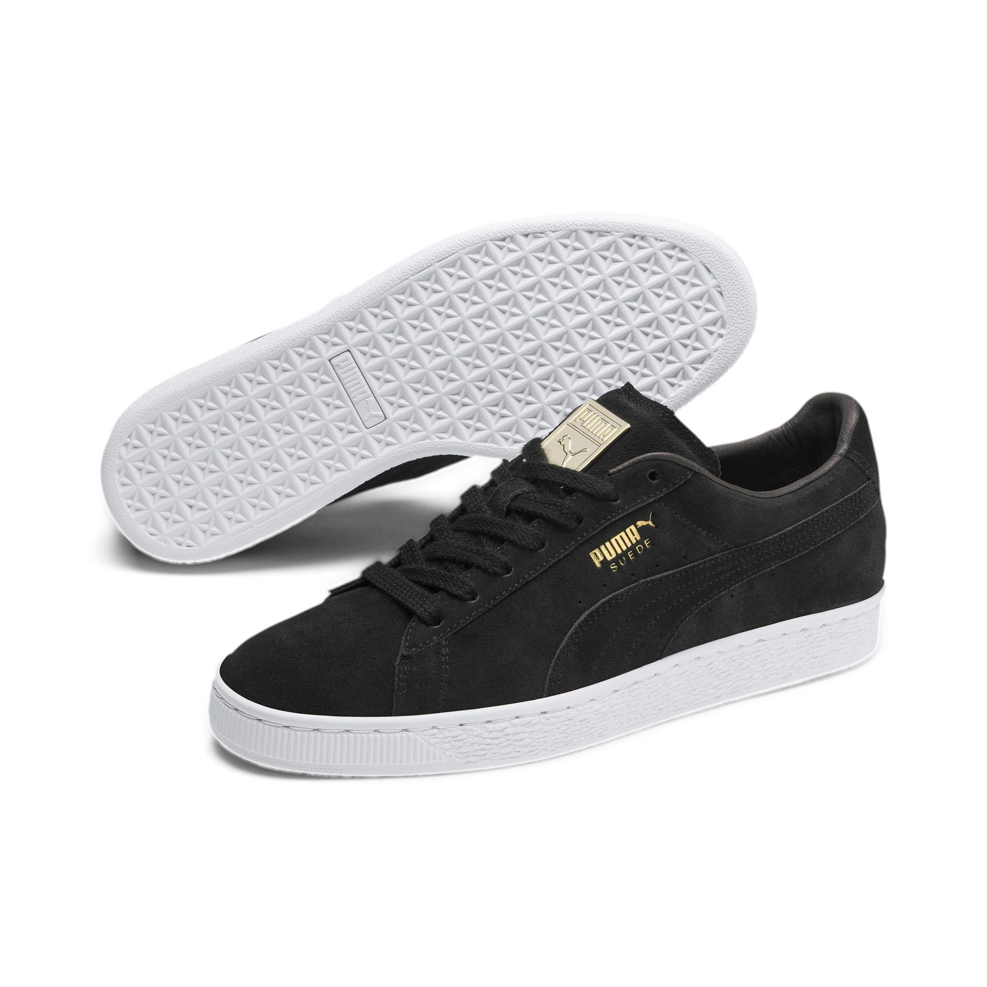 Thumbnail 3 of Suede Classic Metal Badge Sneakers, Puma Black-Puma White, medium