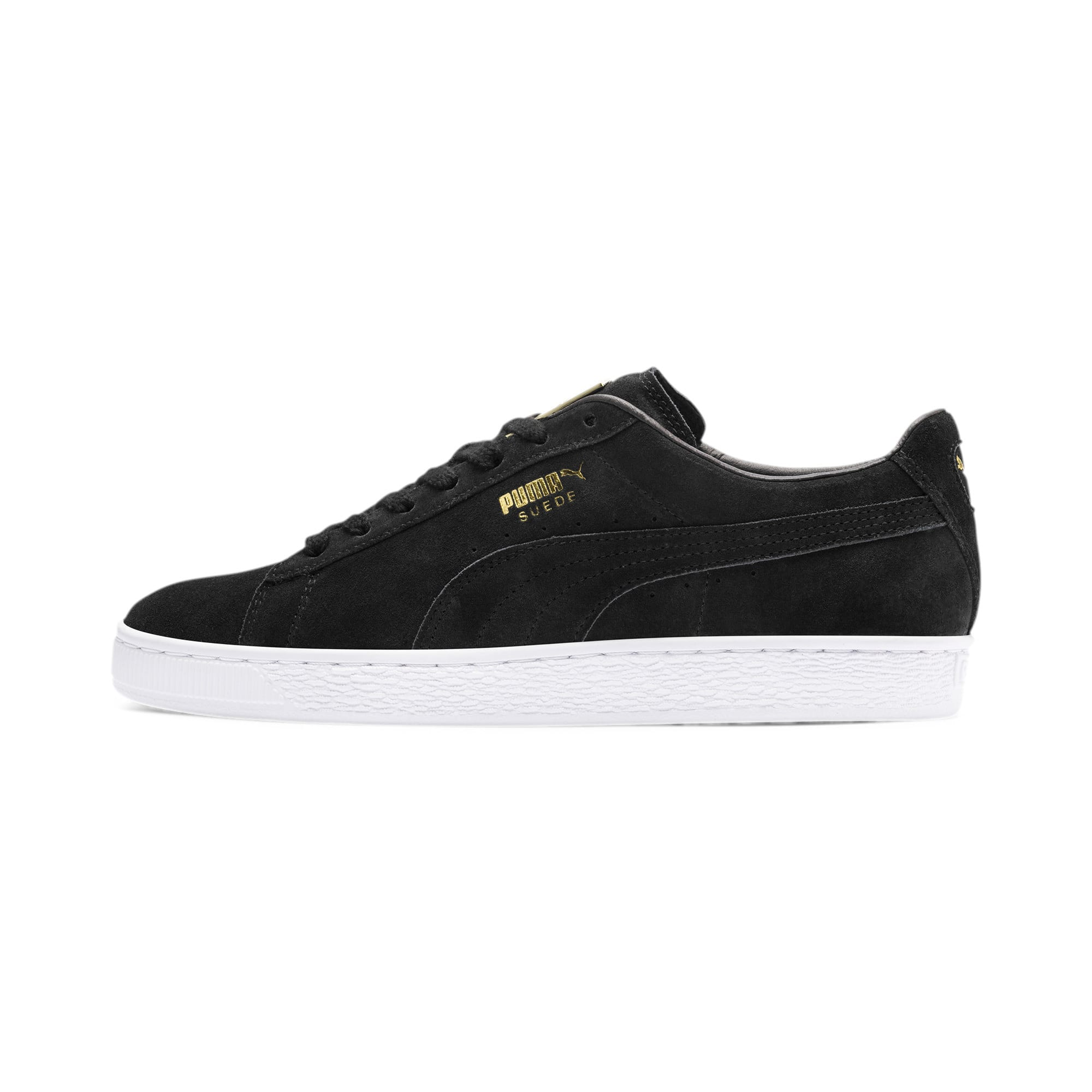 Suede Classic Metal Badge Trainers