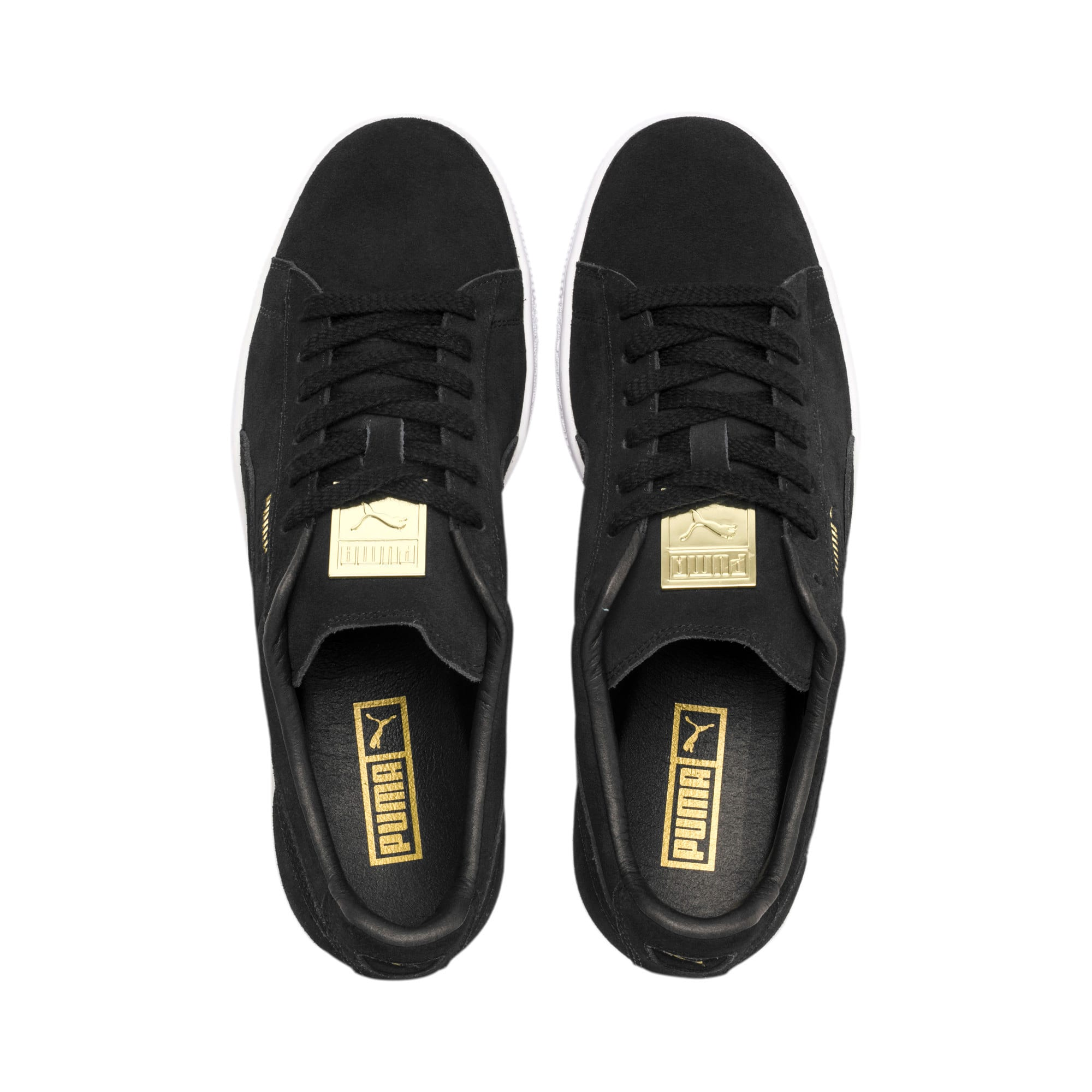 Thumbnail 7 of Suede Classic Metal Badge Sneakers, Puma Black-Puma White, medium