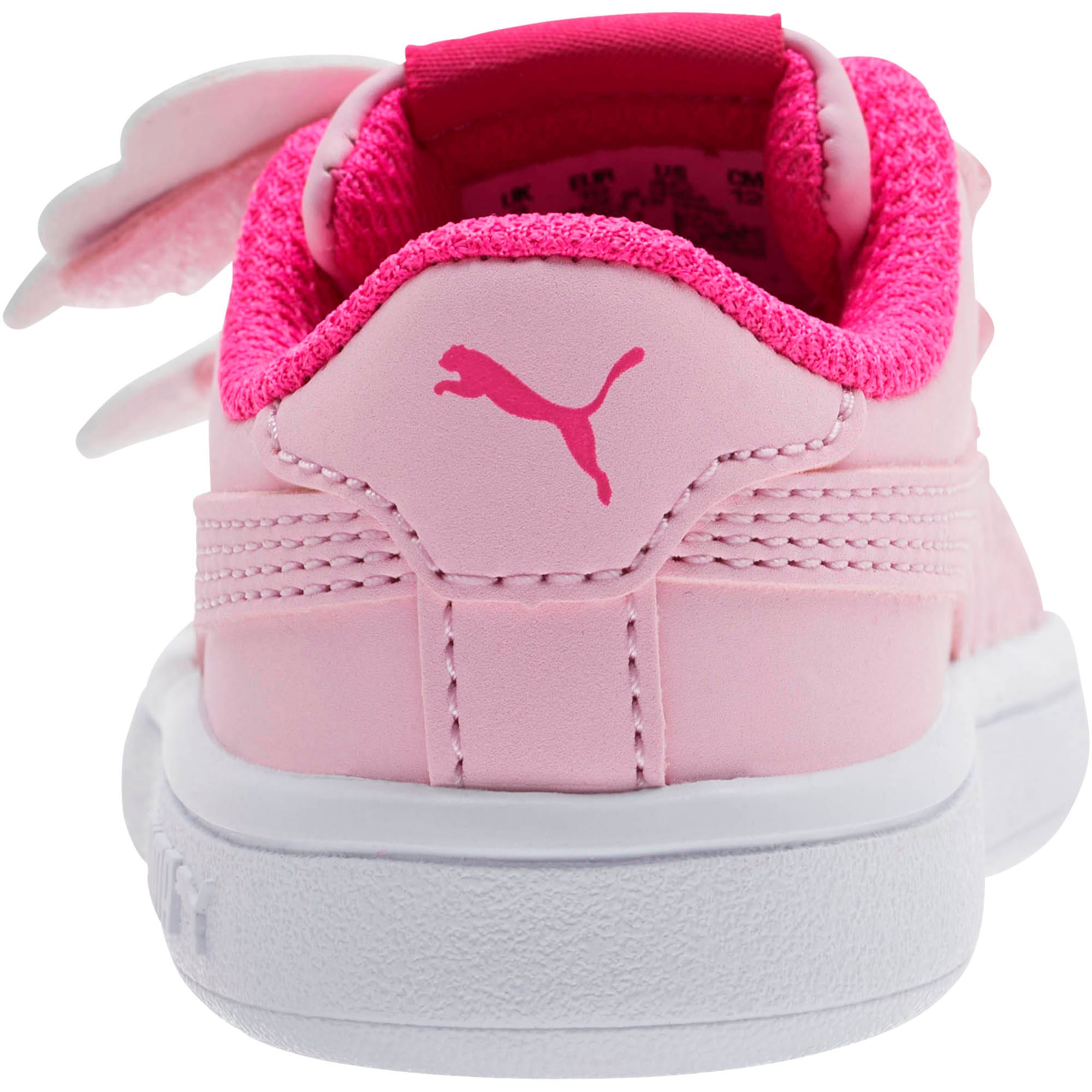 Thumbnail 3 of PUMA Smash v2 Butterfly AC Toddler Shoes, Pale Pink-F Purple-White, medium