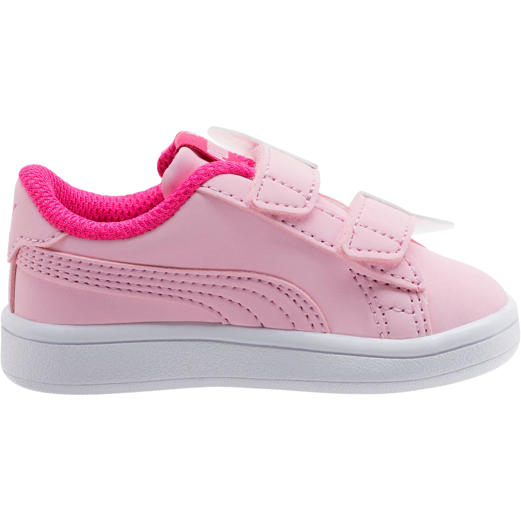 Thumbnail 4 of PUMA Smash v2 Butterfly AC Toddler Shoes, Pale Pink-F Purple-White, medium