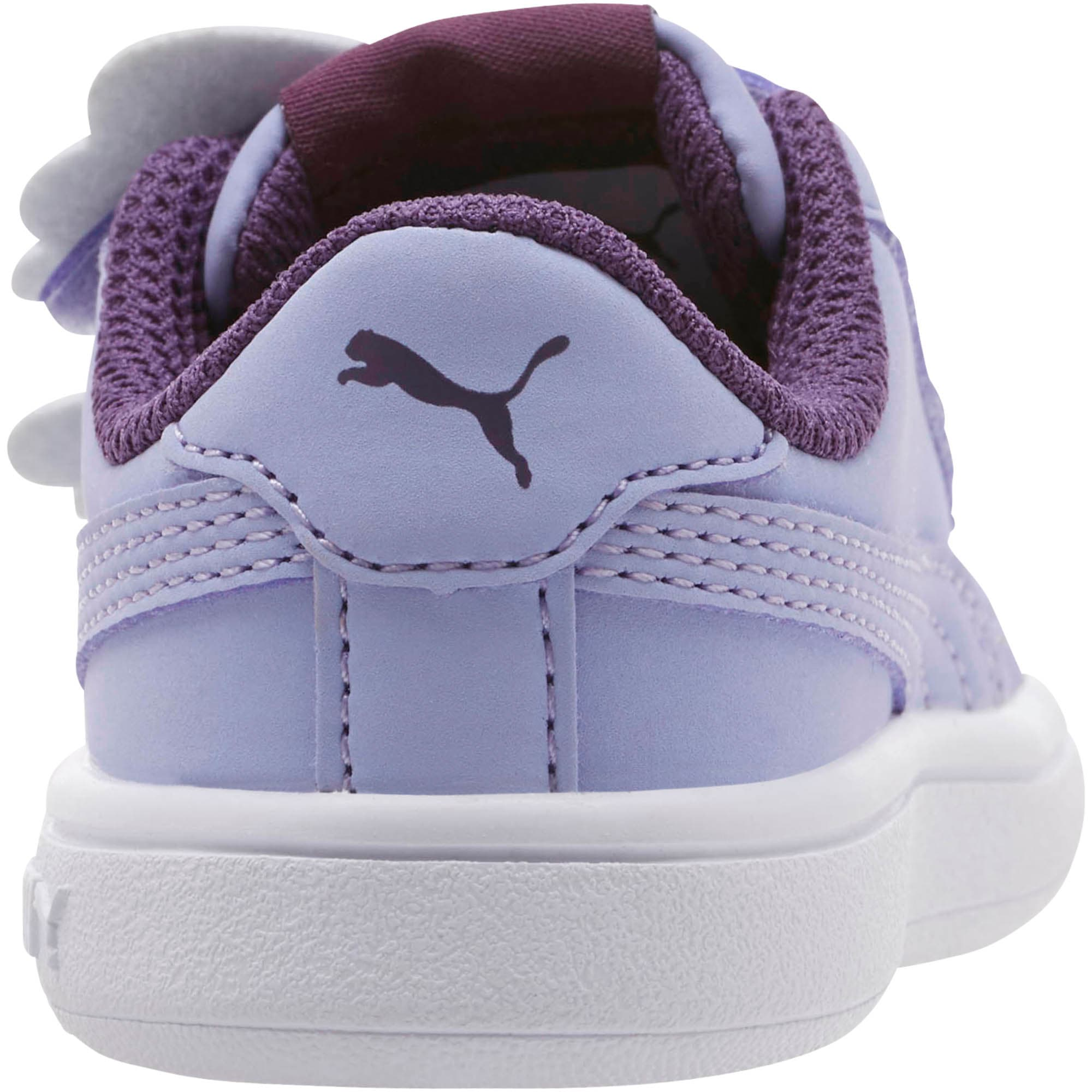 Thumbnail 3 of PUMA Smash v2 Butterfly AC Toddler Shoes, Sweet Lavender-Indigo-White, medium