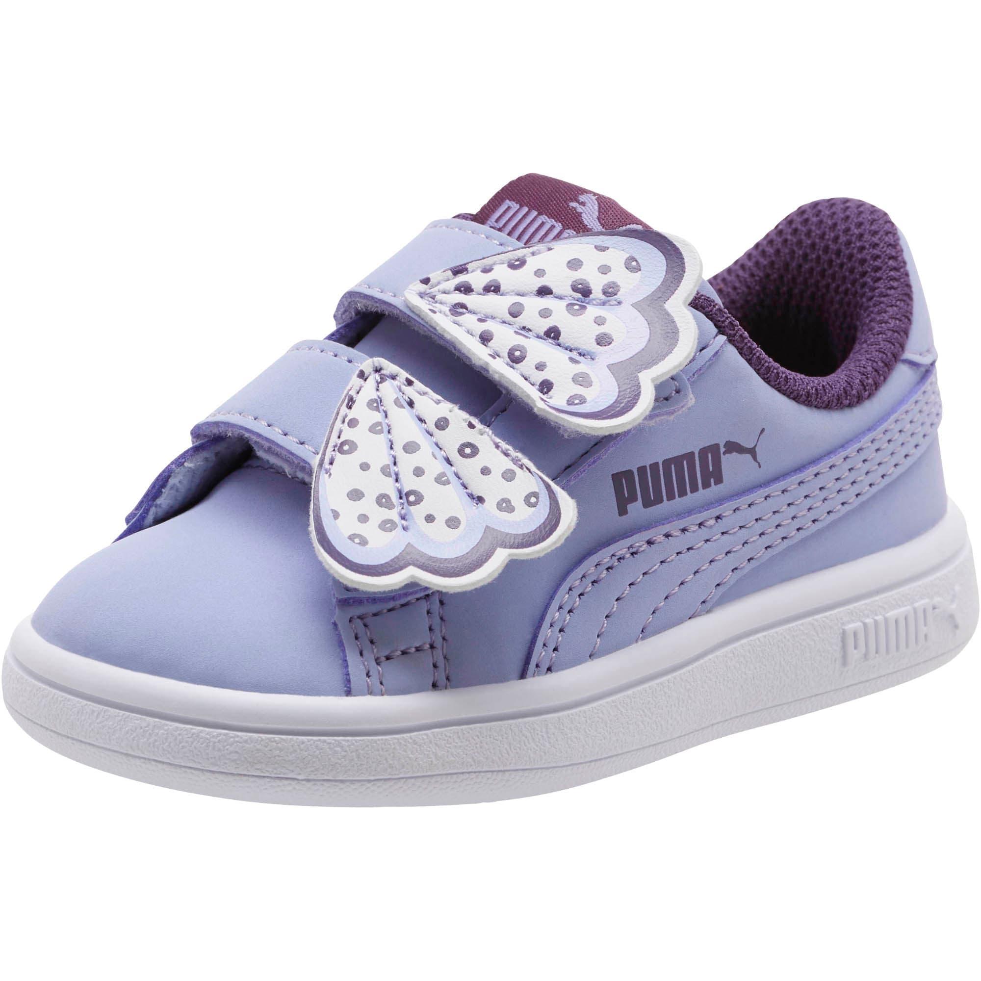 Thumbnail 1 of PUMA Smash v2 Butterfly AC Toddler Shoes, Sweet Lavender-Indigo-White, medium