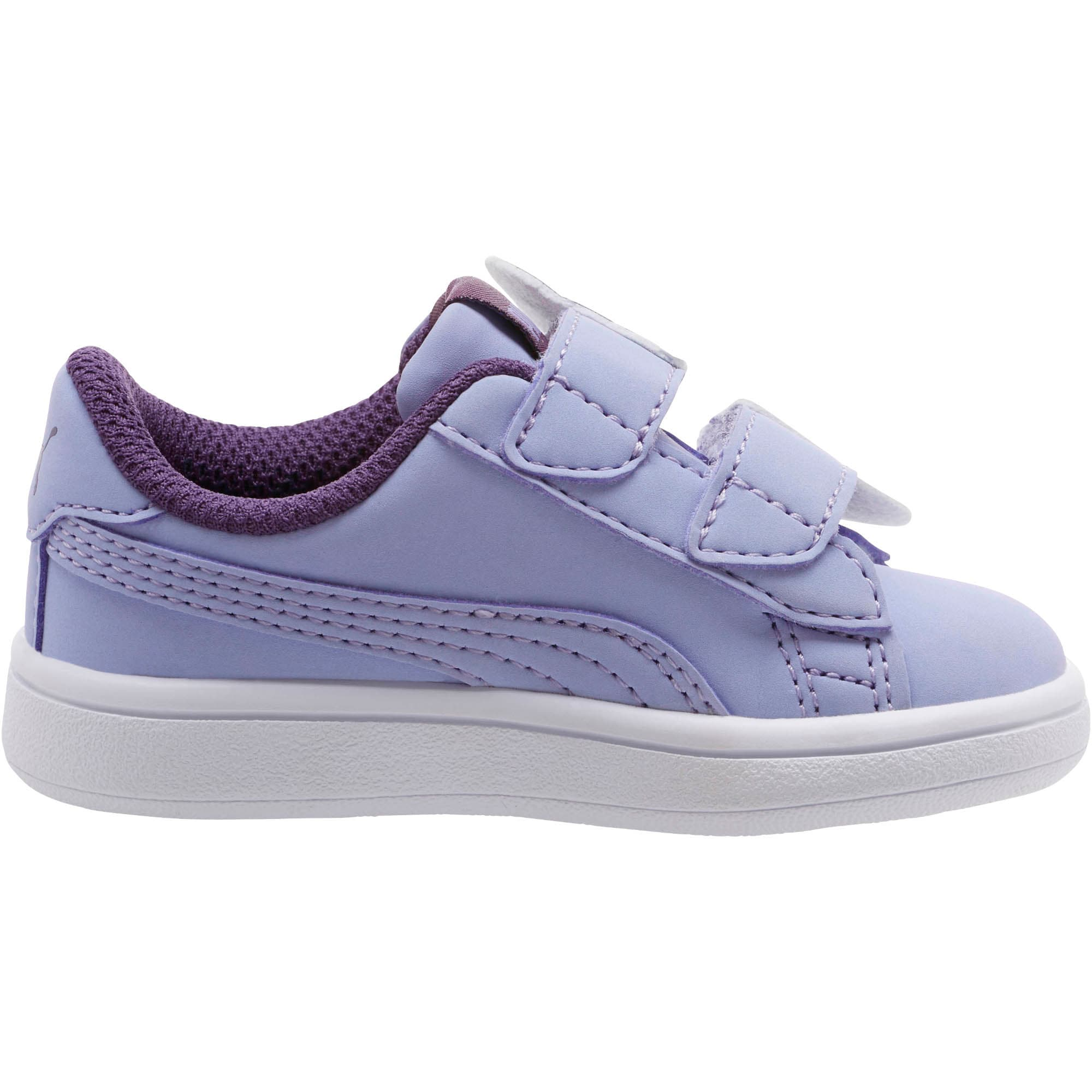 Thumbnail 4 of PUMA Smash v2 Butterfly AC Toddler Shoes, Sweet Lavender-Indigo-White, medium