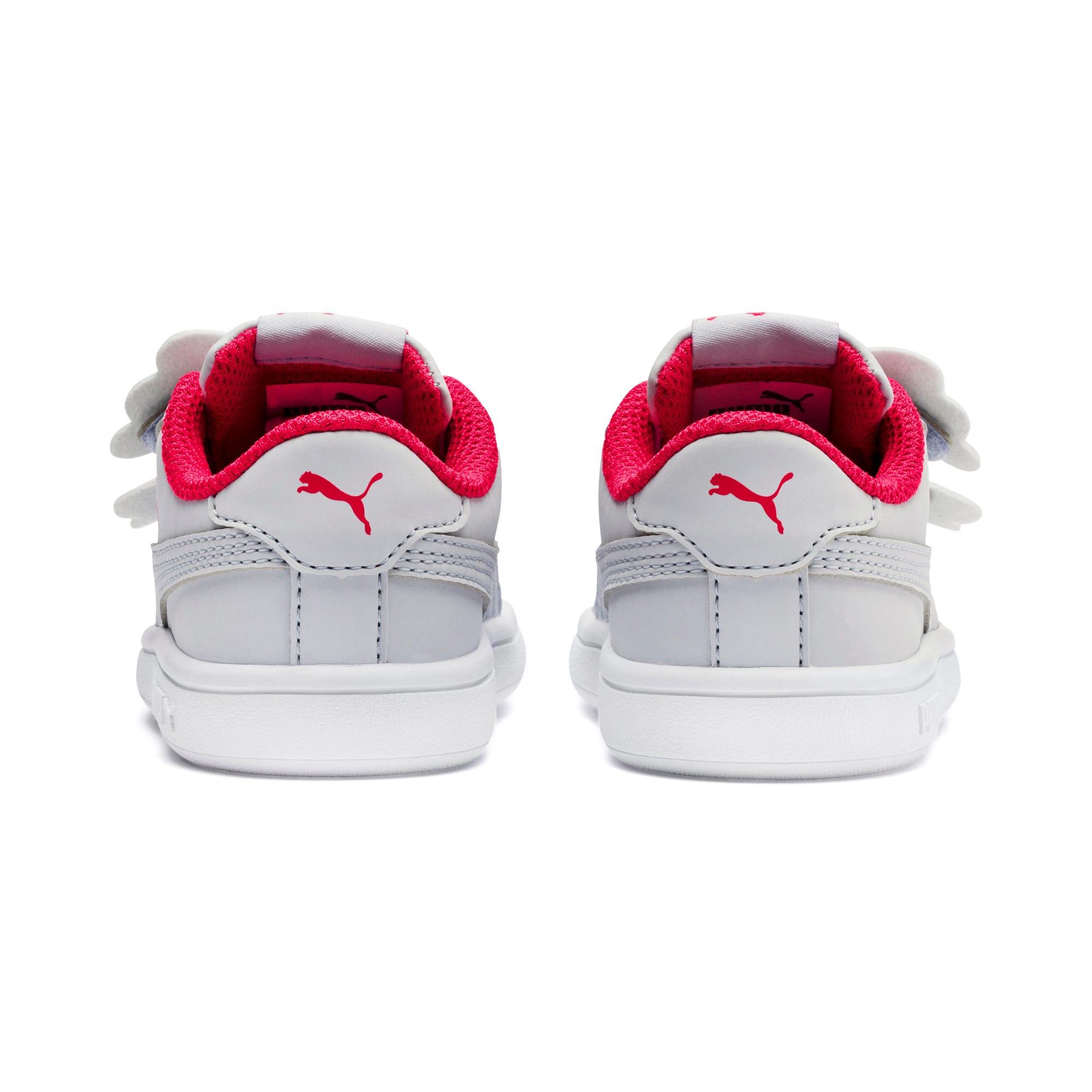 Thumbnail 3 of PUMA Smash v2 Butterfly AC Toddler Shoes, Heather-Nrgy Rose-Puma White, medium